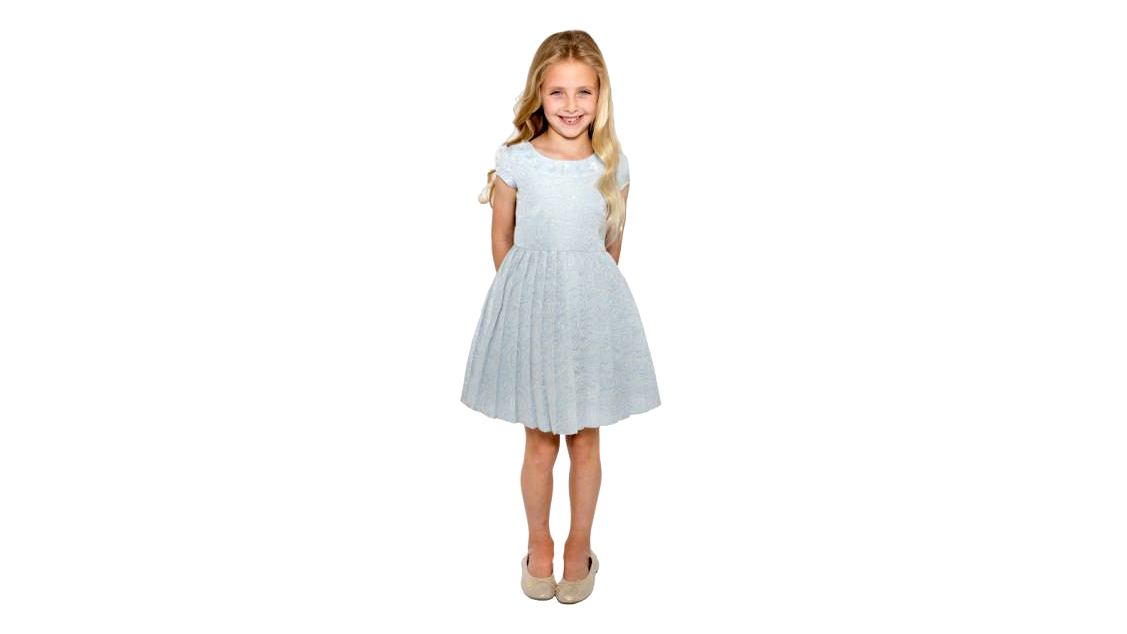 Little Angels Floral Brocade Dress
