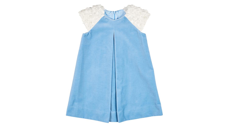 Florence Eiseman Light Blue Velvet Dress