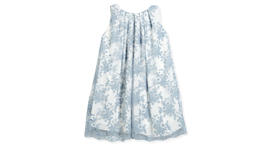 Helena Pleated Lace Dress