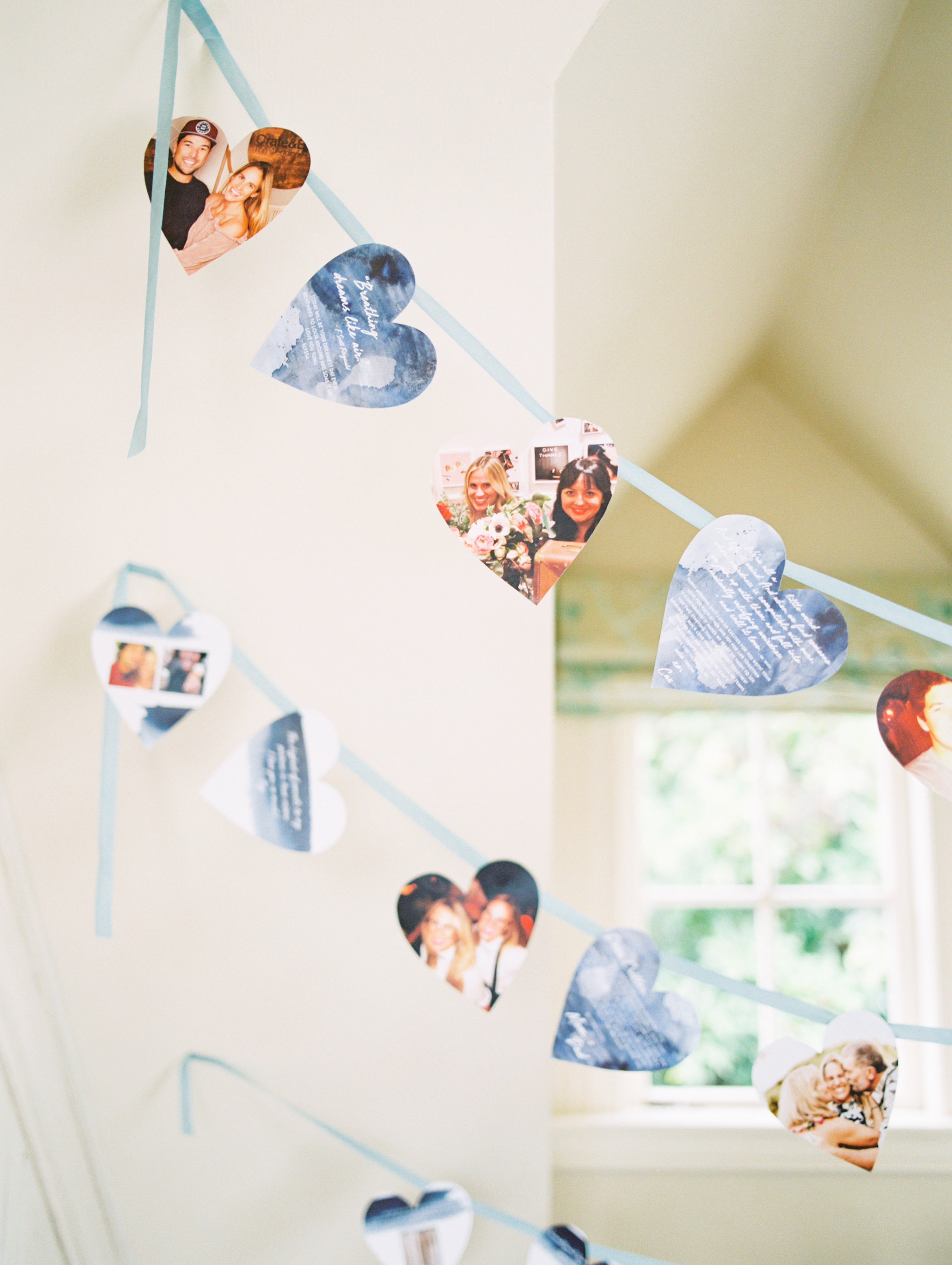 heart photo garlands
