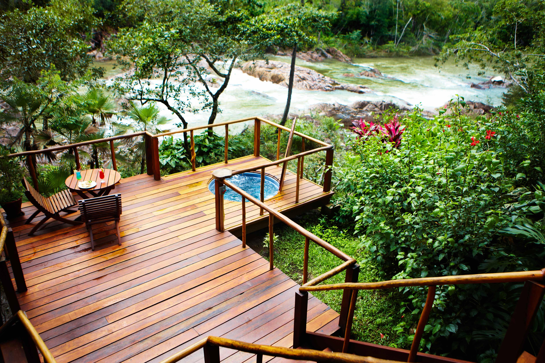 riverside deck hot tub