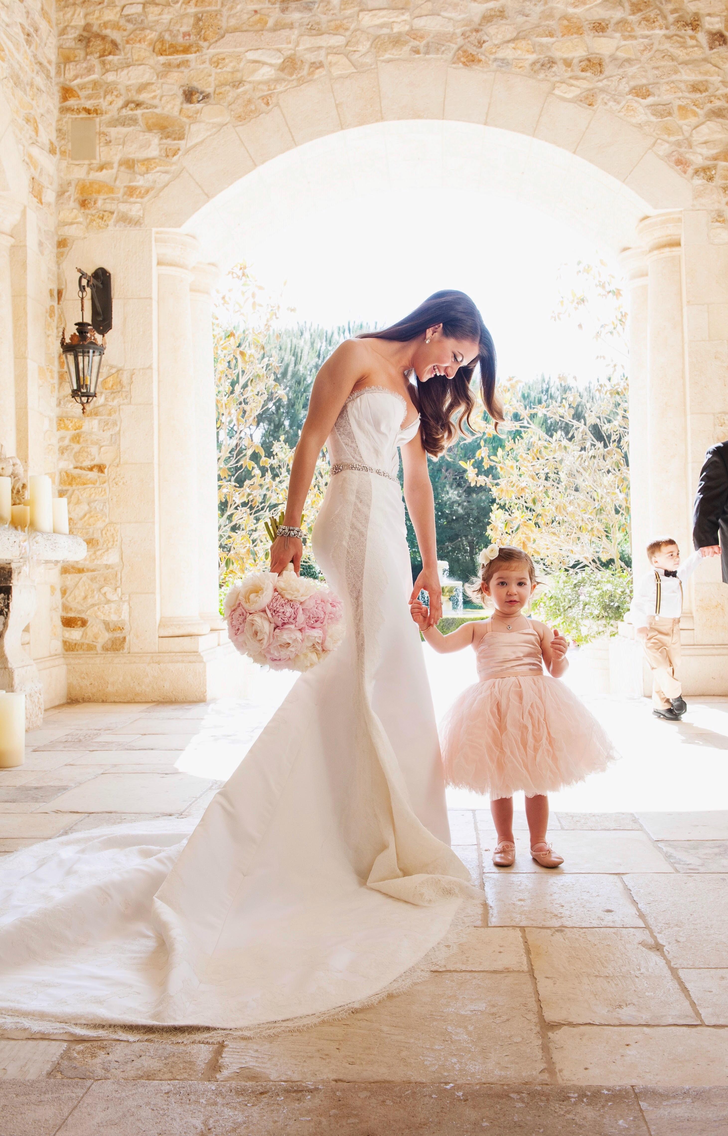 Lauren Gores with Flower Girl
