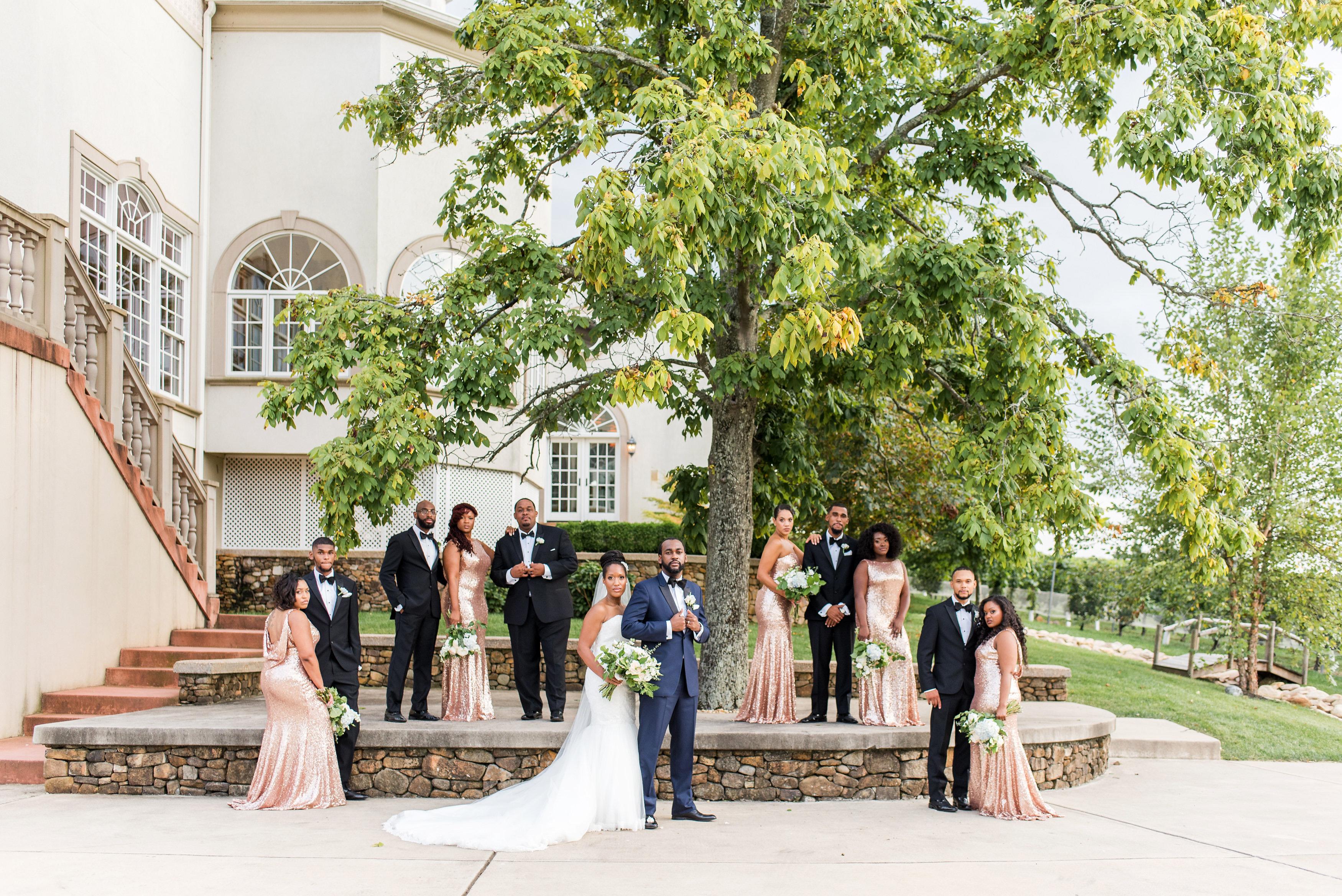 kenisha wendall wedding bridal party