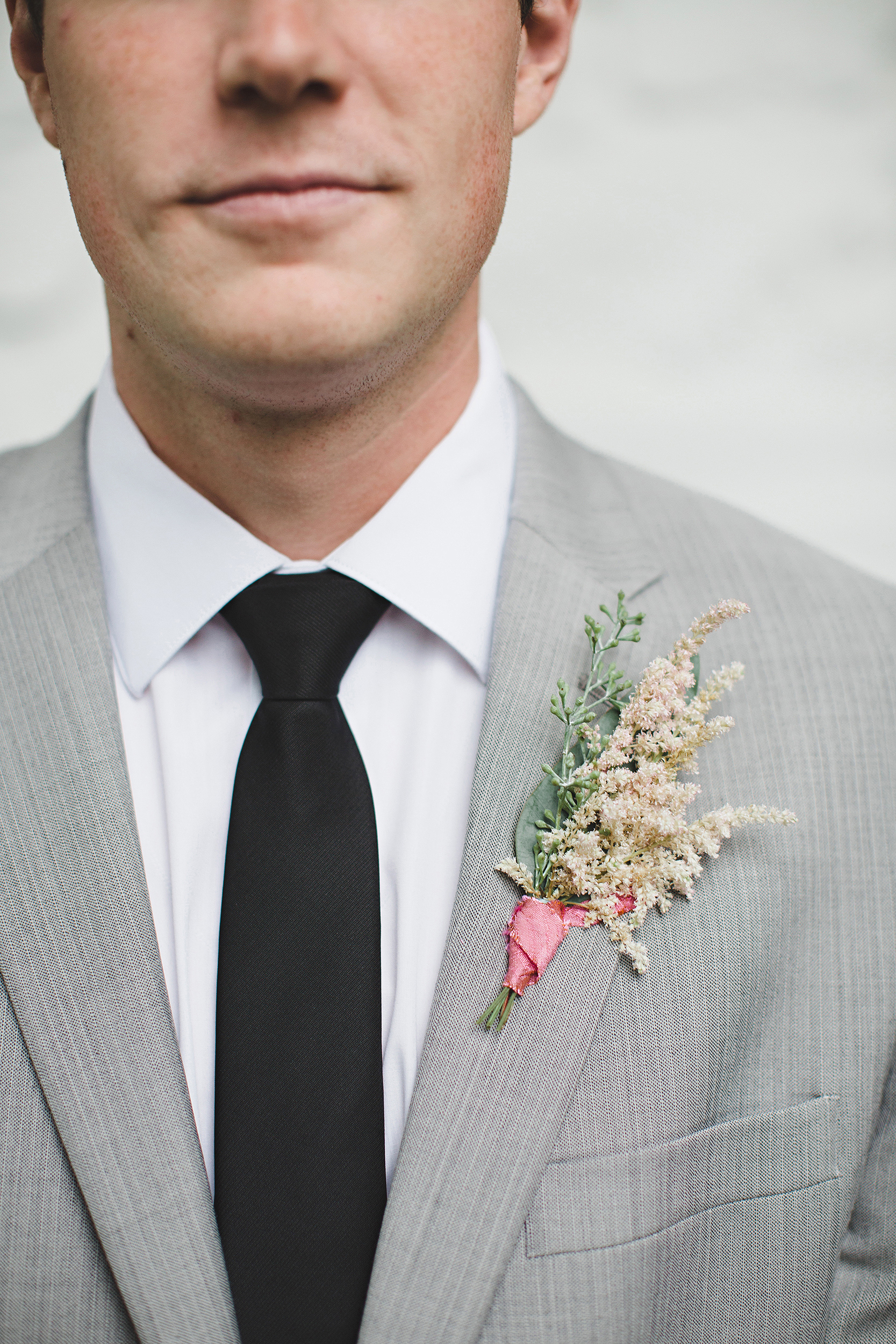 decorative grass boutonniere