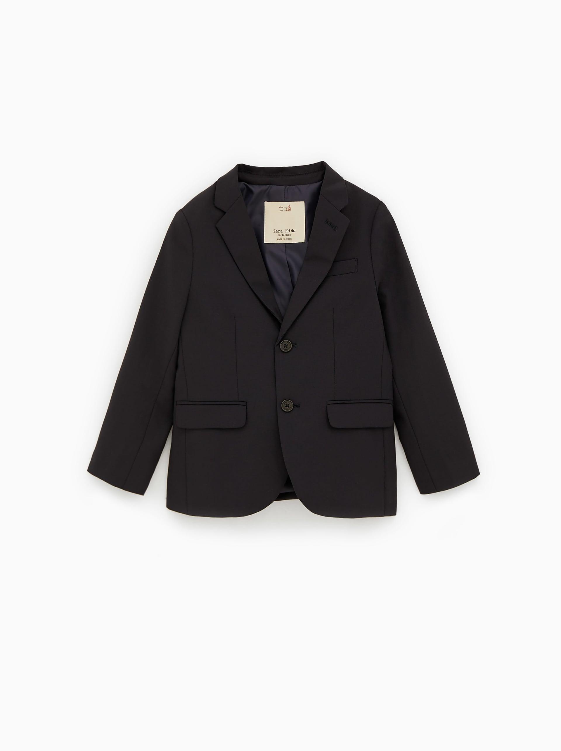 Textured Weave Suit Blazer