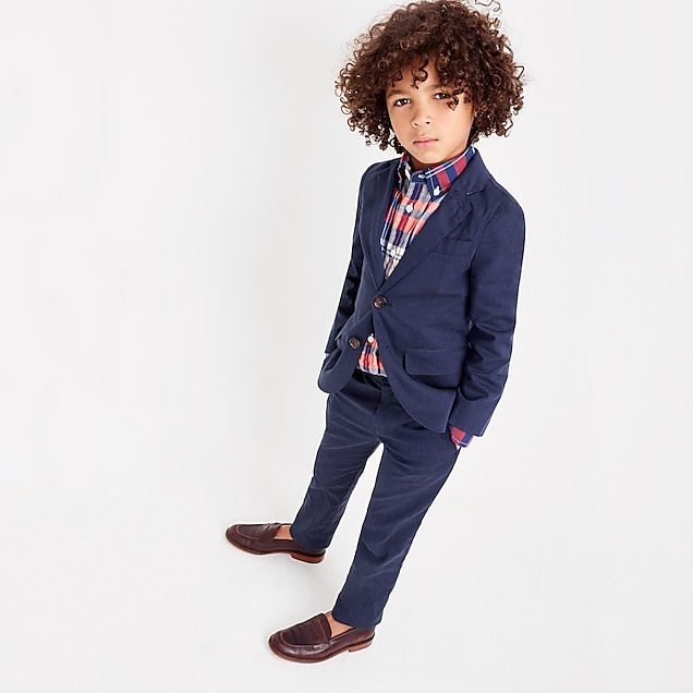 Unstructured Suit Jacket and Suit Pant in Stretch Cotton