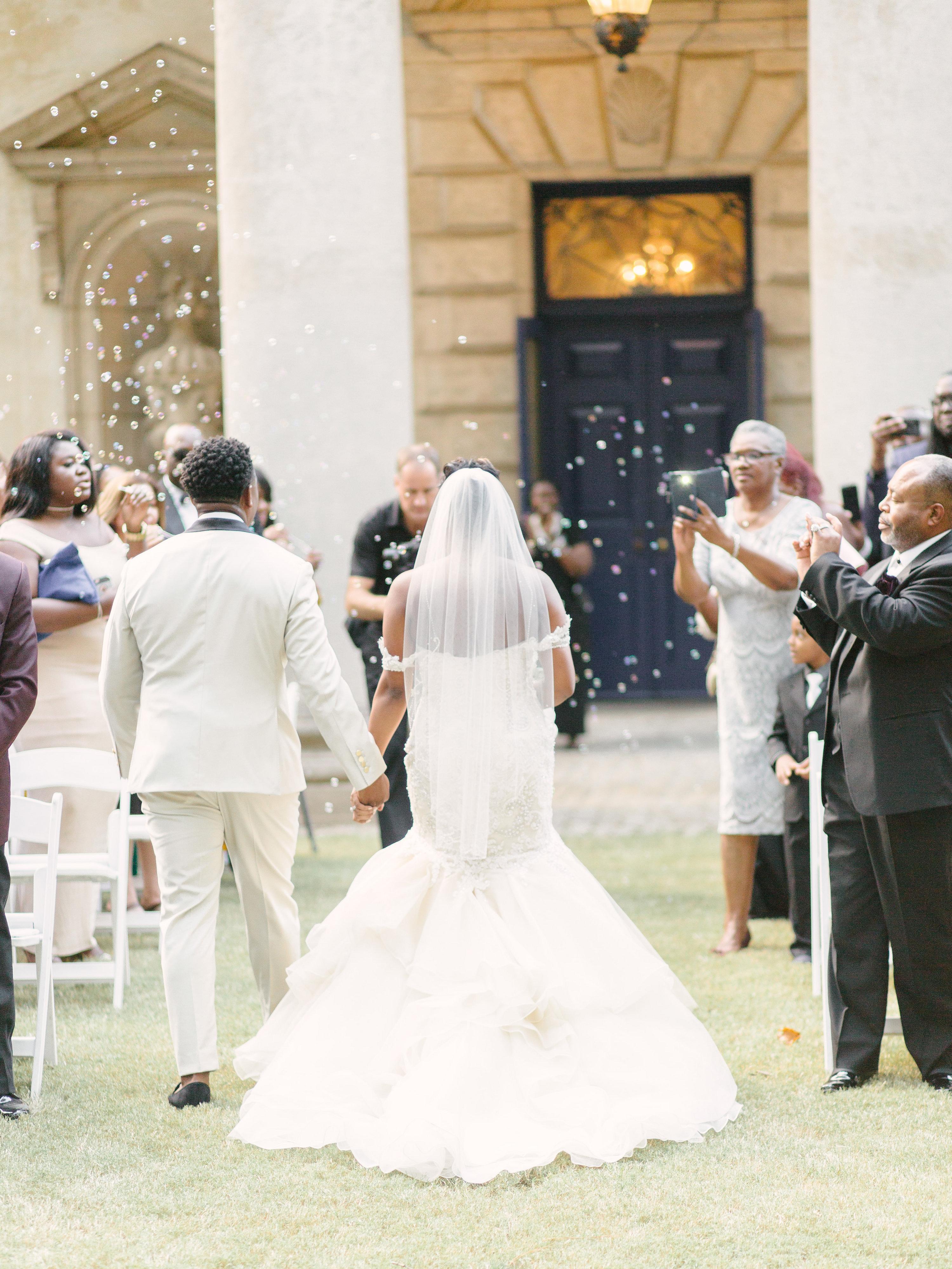 ceremony exit bubbles