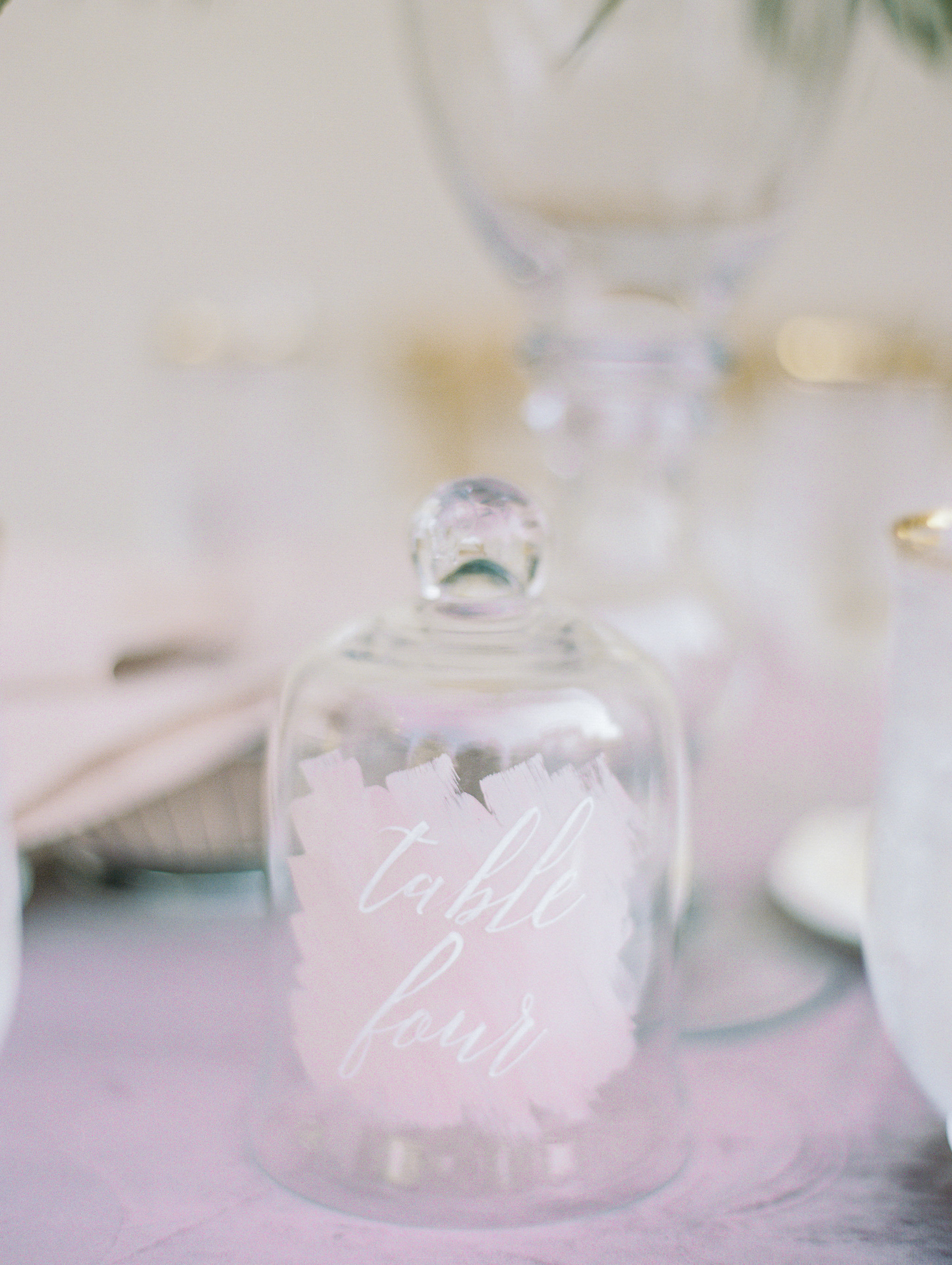 painted cloche table number