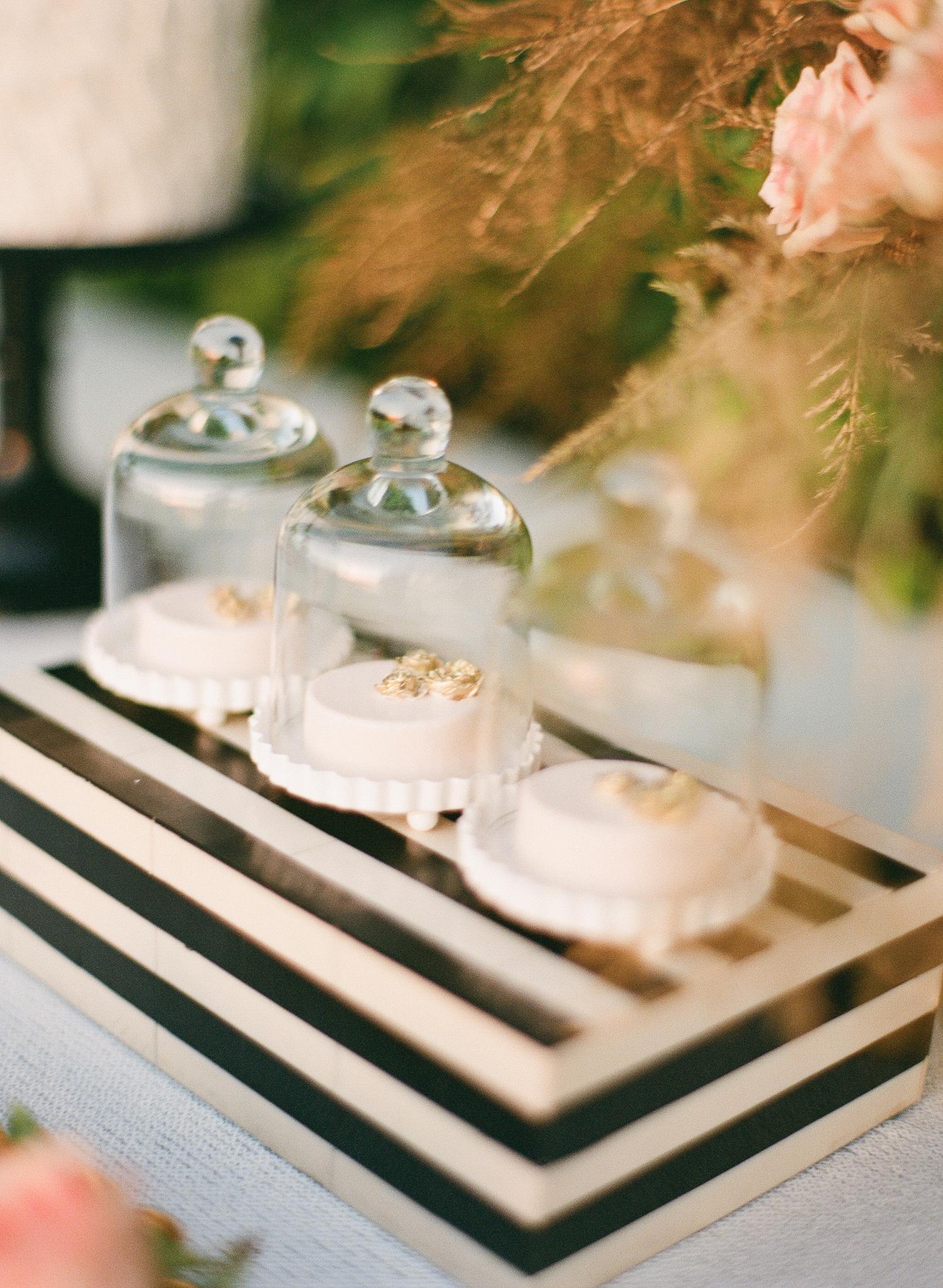 cloches mini desserts