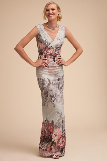 """BLDHN """"Lilliana"""" Floral Mother of the Bride Dress"""