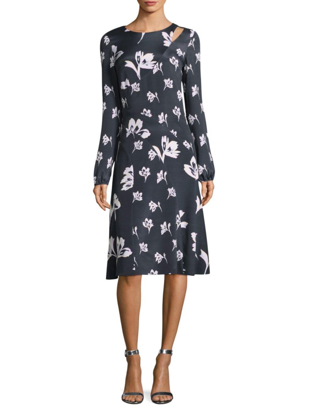 """St. John """"Falling Flower"""" Dress"""