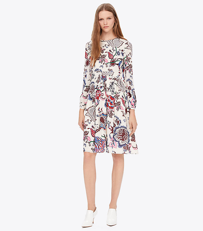 short tory burch floral engagement party dress
