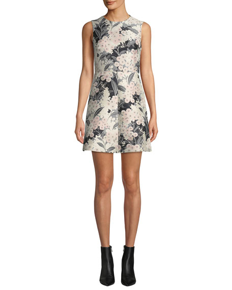 short floral engagement party dress