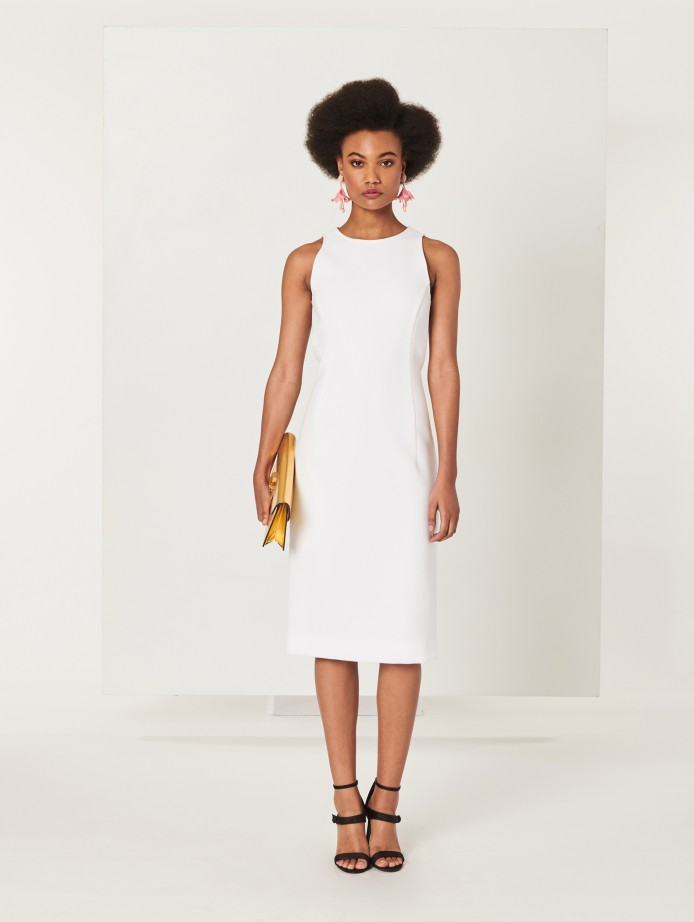 Oscar de la Renta Sleeveless Engagement Party Dress