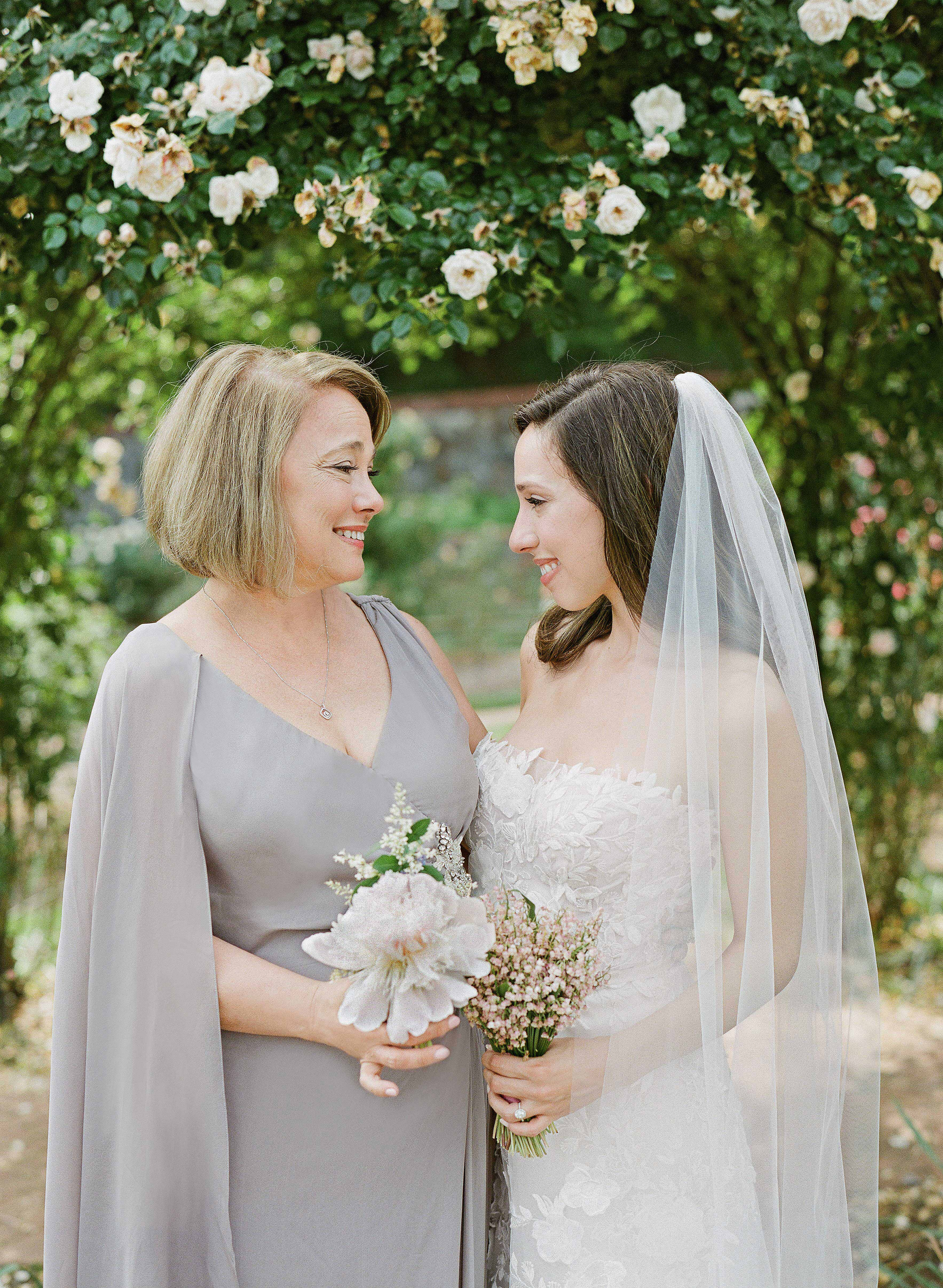 bride with mother