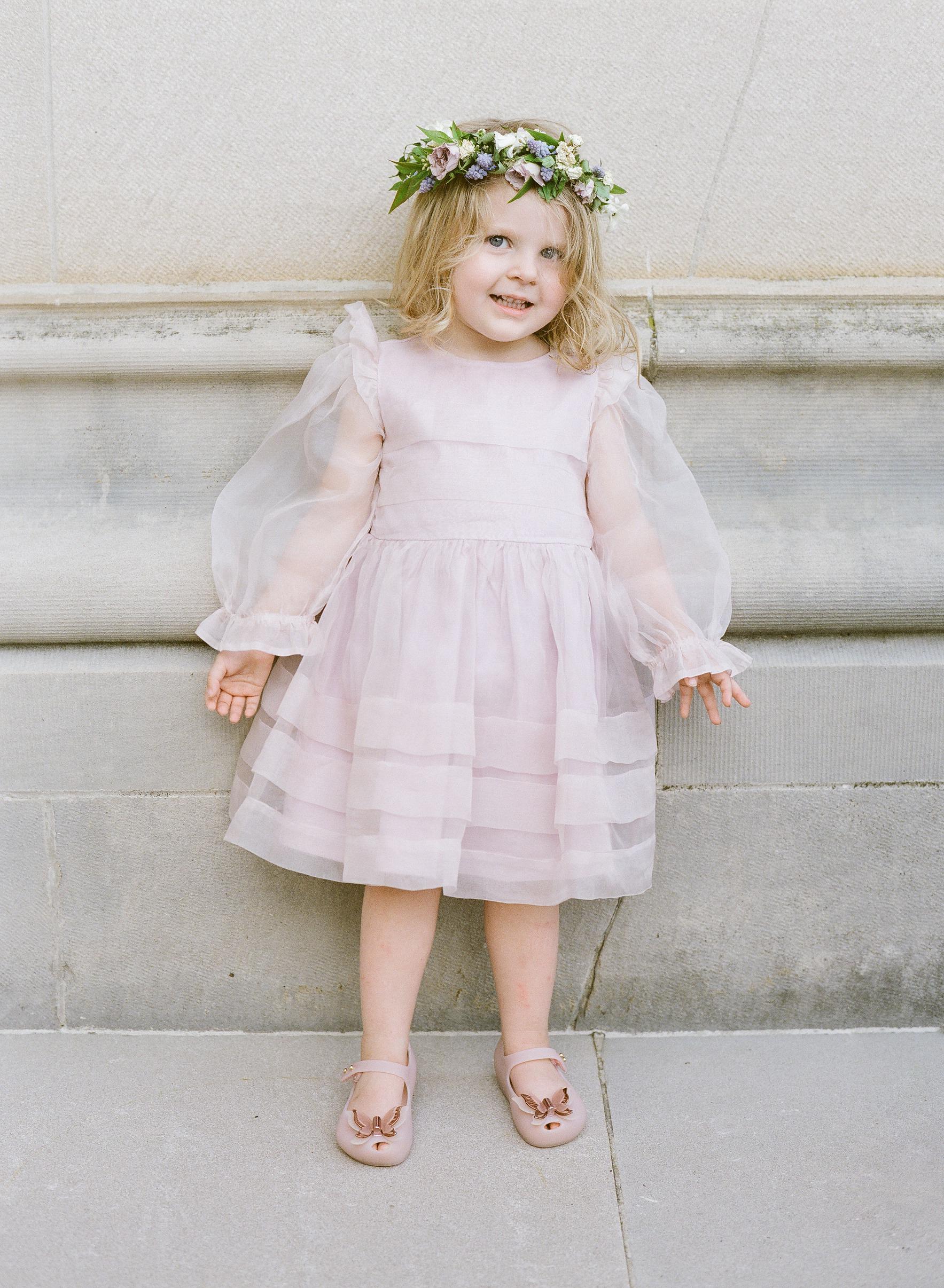 flower girl pink dress