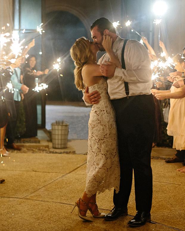 charla jesse wedding sparkler send-off