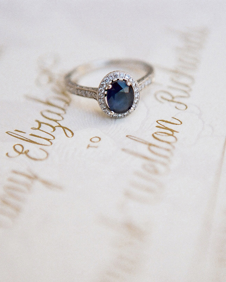 wedding ring blue