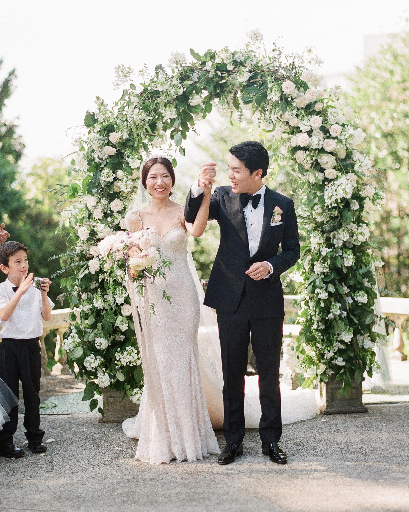 gloria zee wedding ceremony couple just married