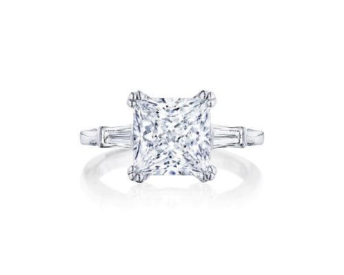 square three stone engagement ring