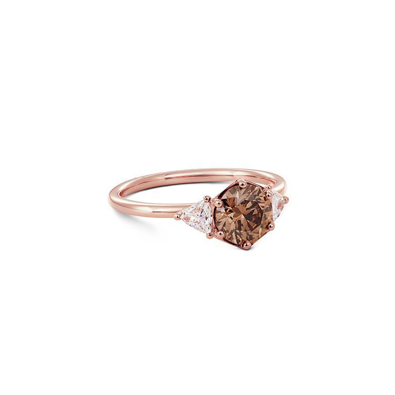 brown diamond engagement ring