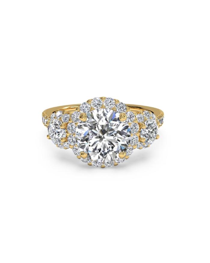 round three diamond engagement ring