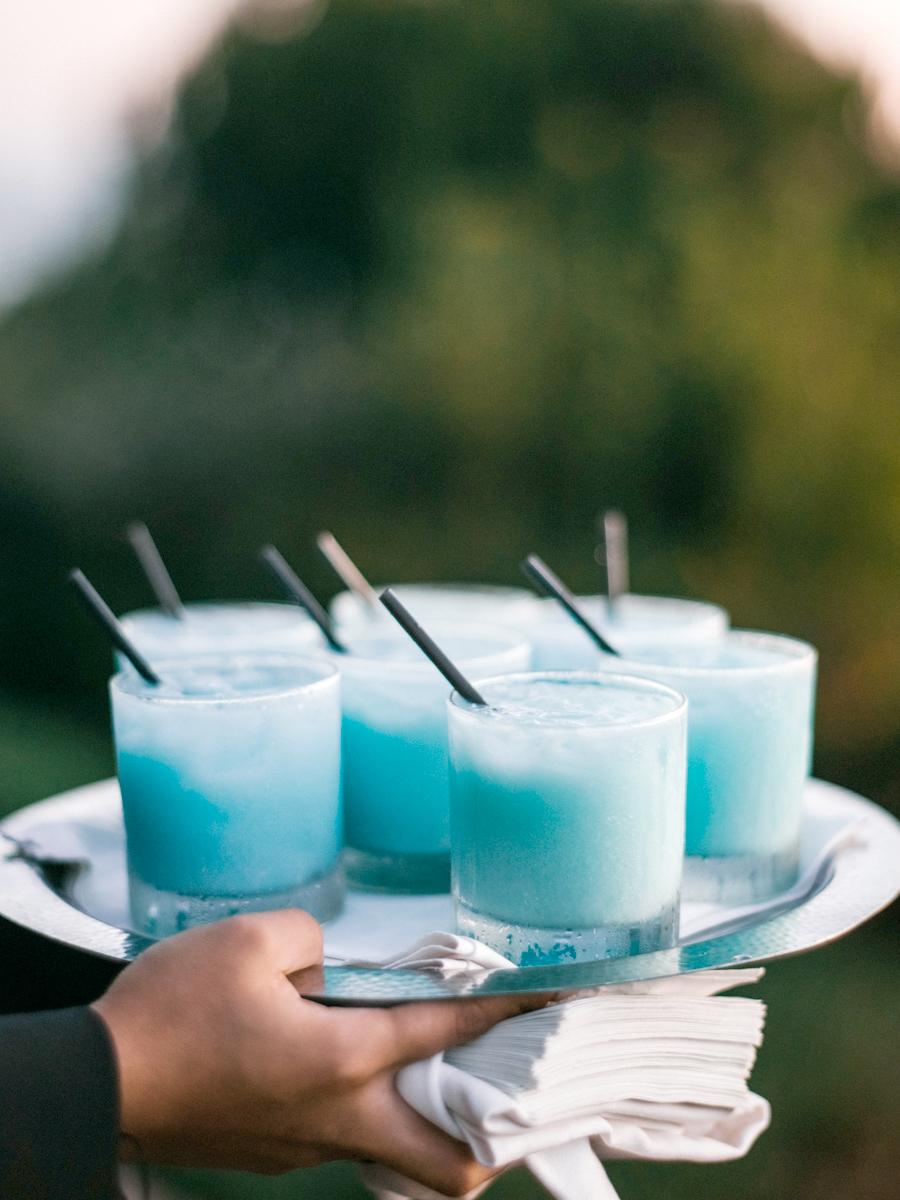 blue frozen drinks