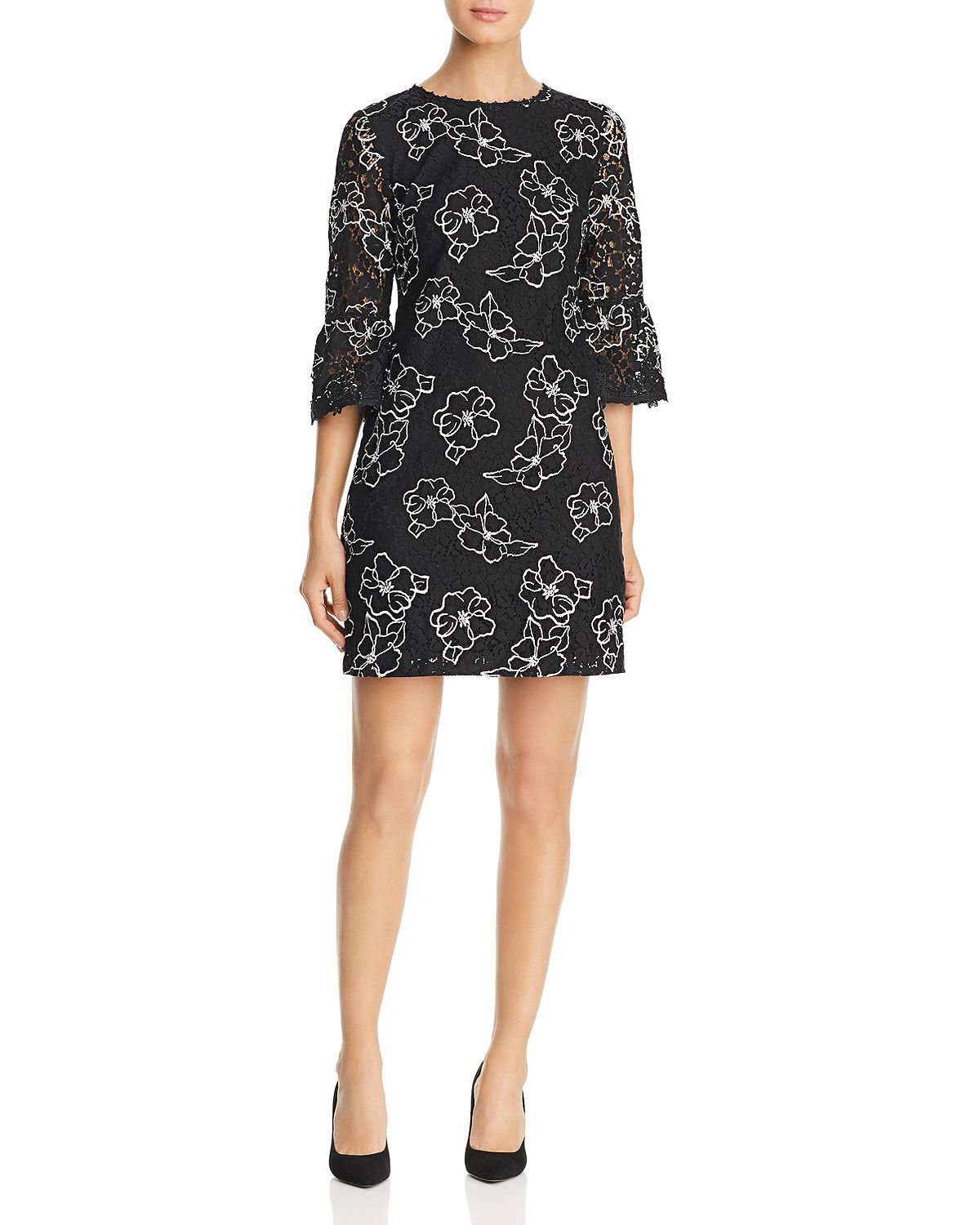Karl Lagerfeld Paris Embroidered Lace Dress