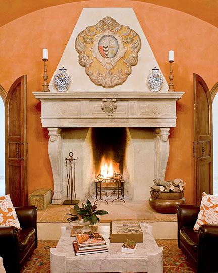 fireplace resort italy