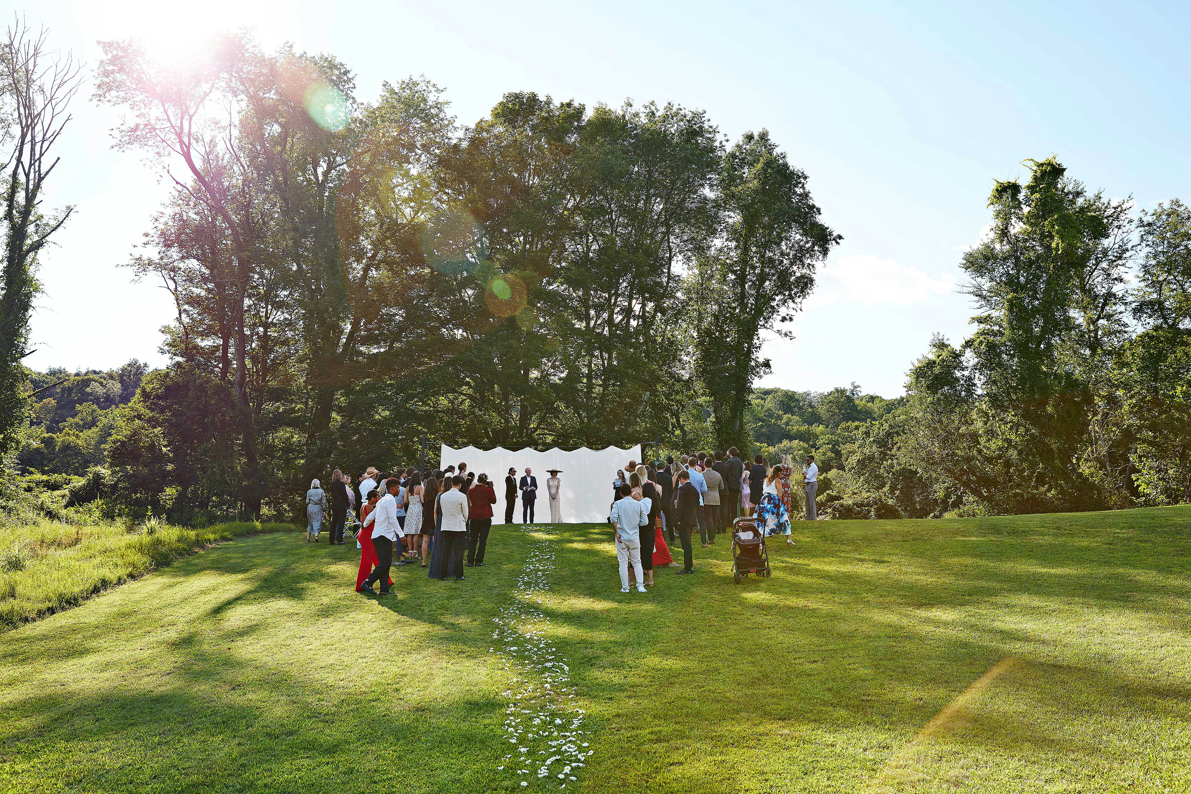 avril quy wedding new york ceremony outdoors
