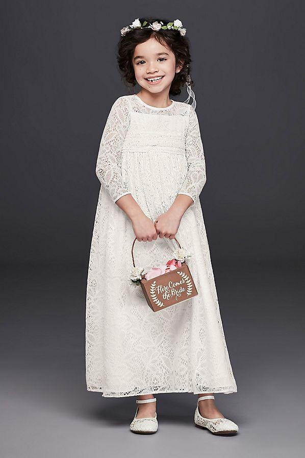 e5bf8eeb4 The Sweetest Lace Flower Girl Dresses | Martha Stewart Weddings