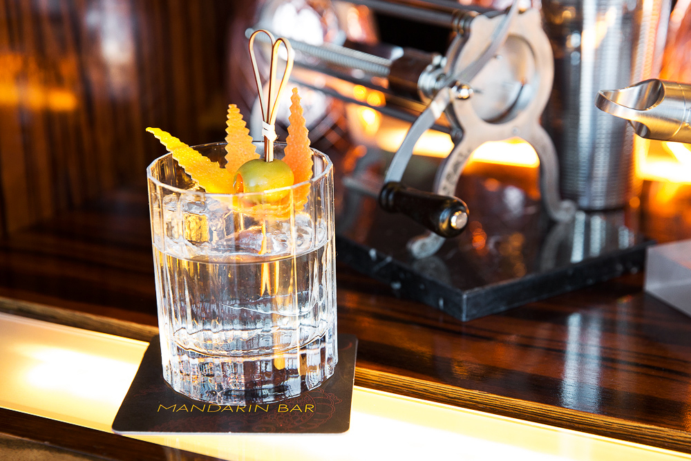 cocktails negroni bianco olive stirrer glass garnish
