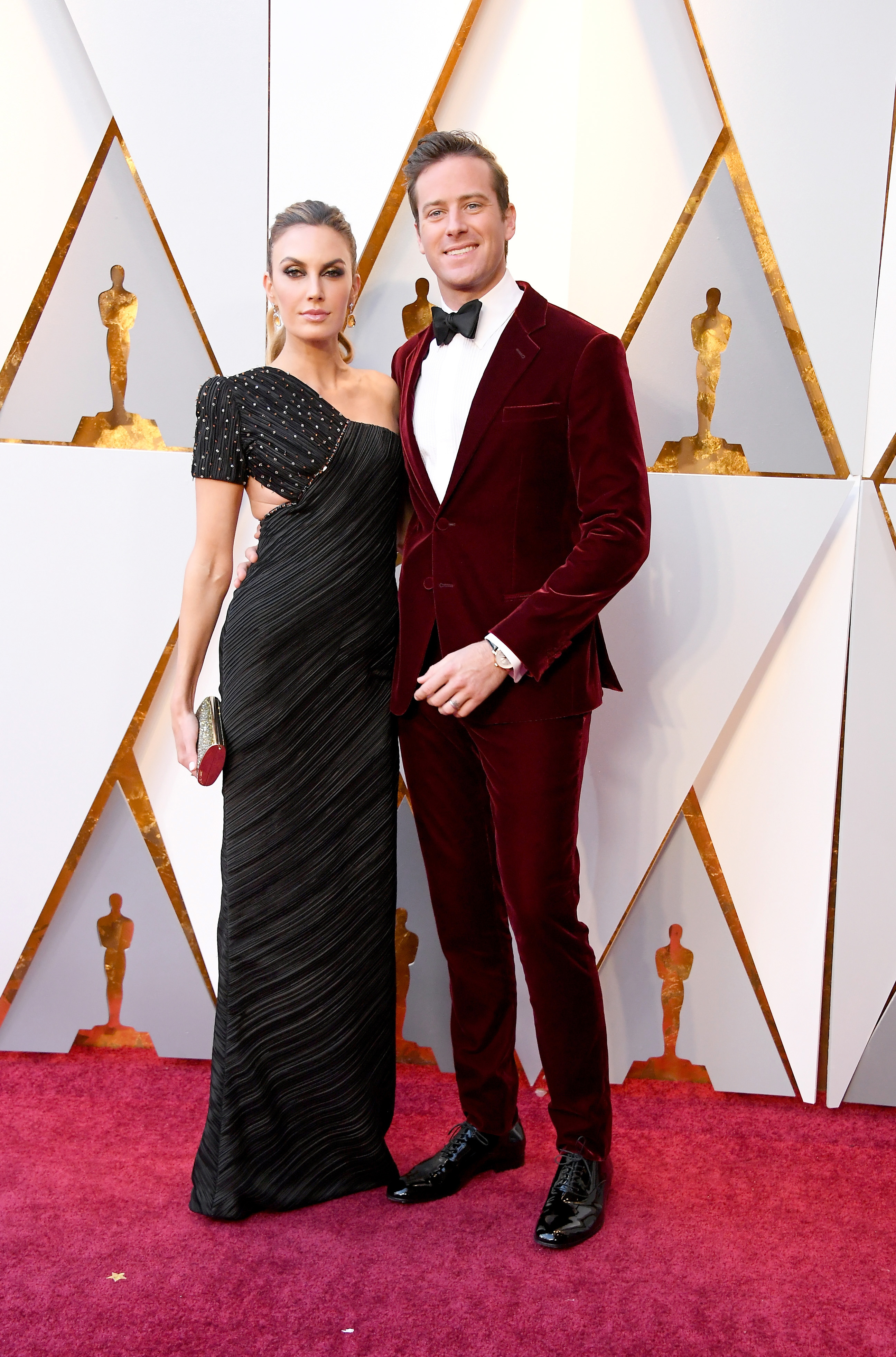 Armie Hammer and Elizabeth Chambers 2018 Oscars