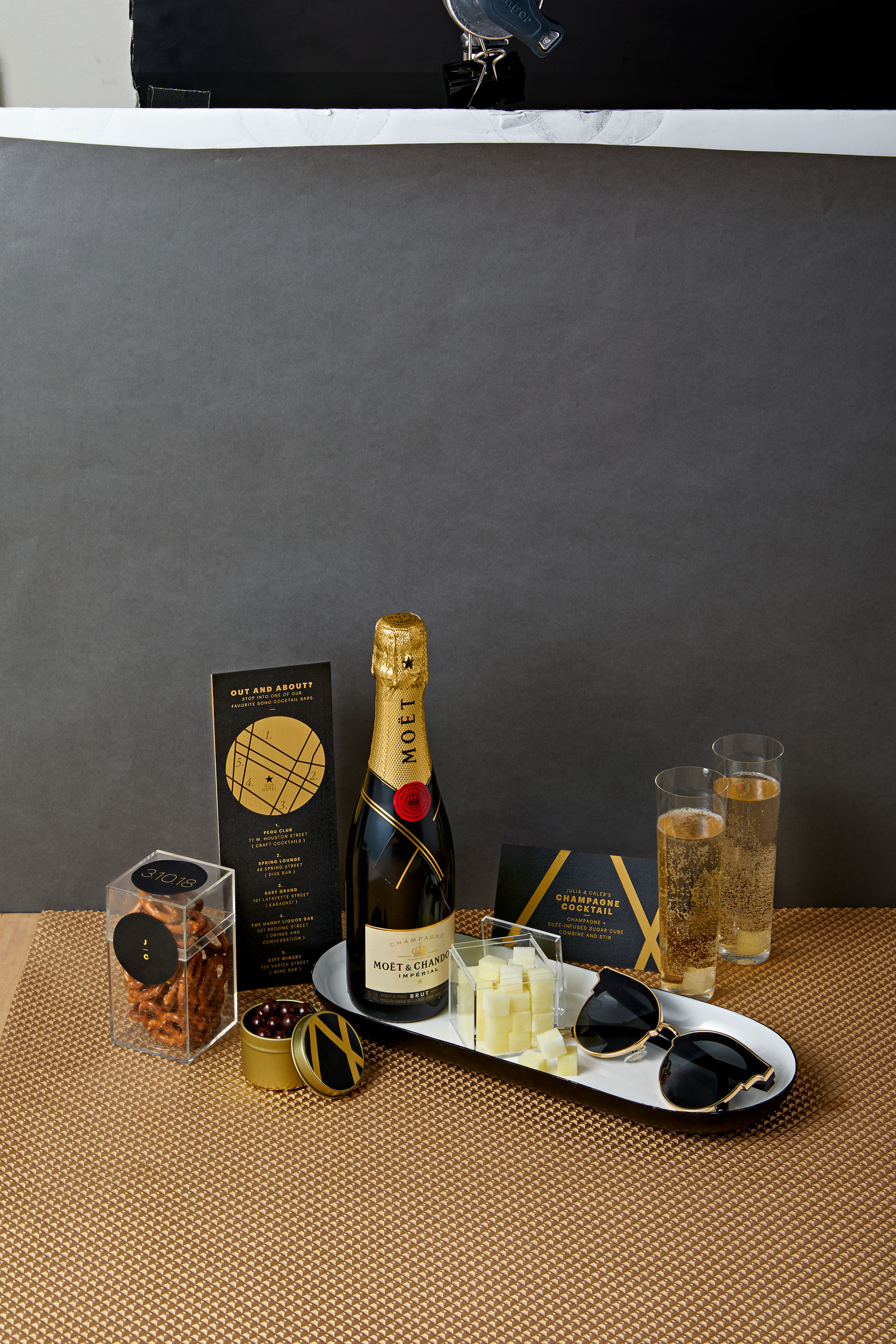 cocktail welcome bag
