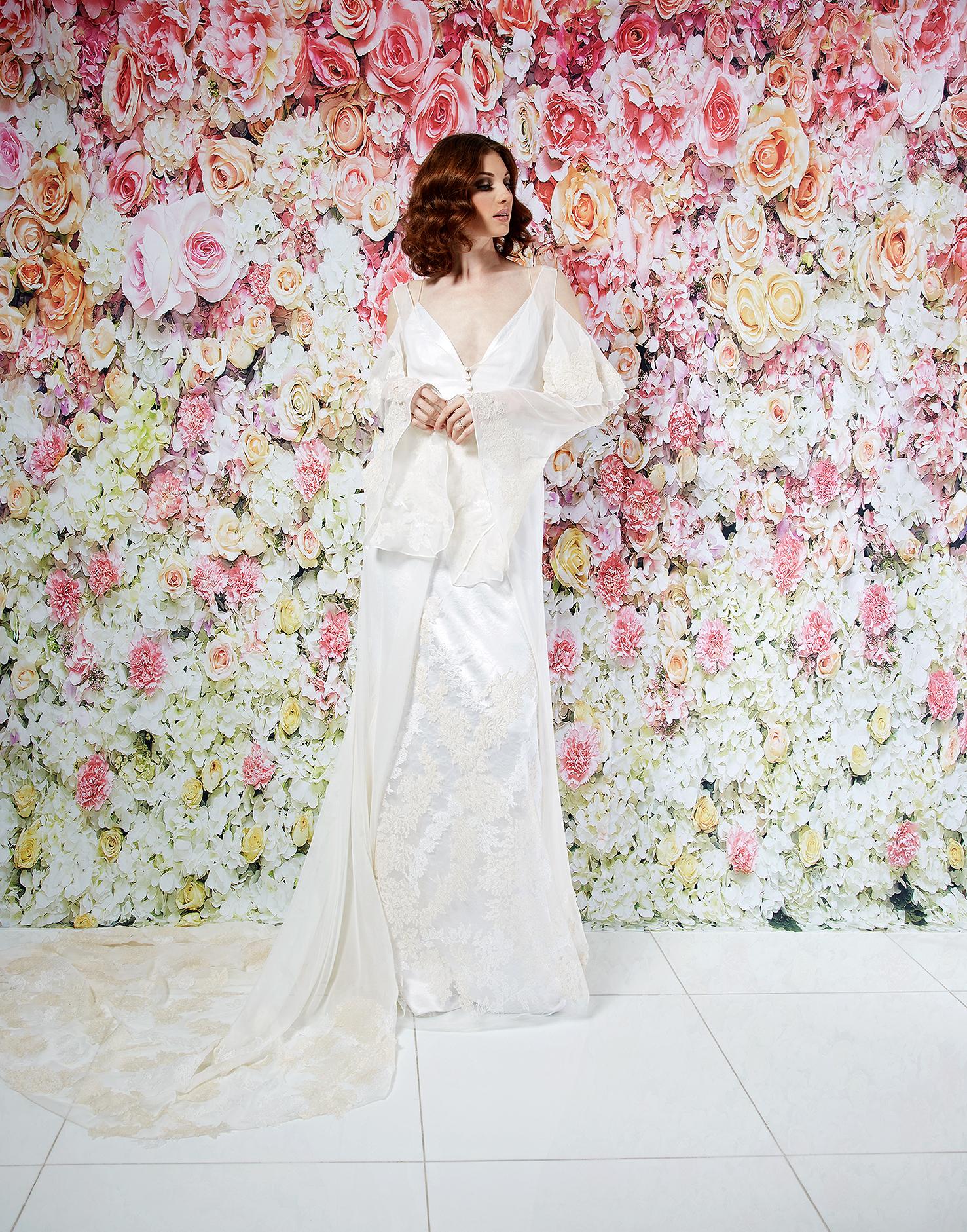randi rahm wedding dress spring 2019 embroidered sheath sheer sleeves