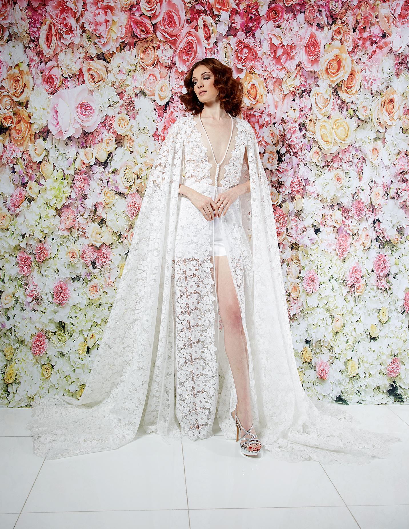randi rahm wedding dress spring 2019 shorts sheer lace overlay separates