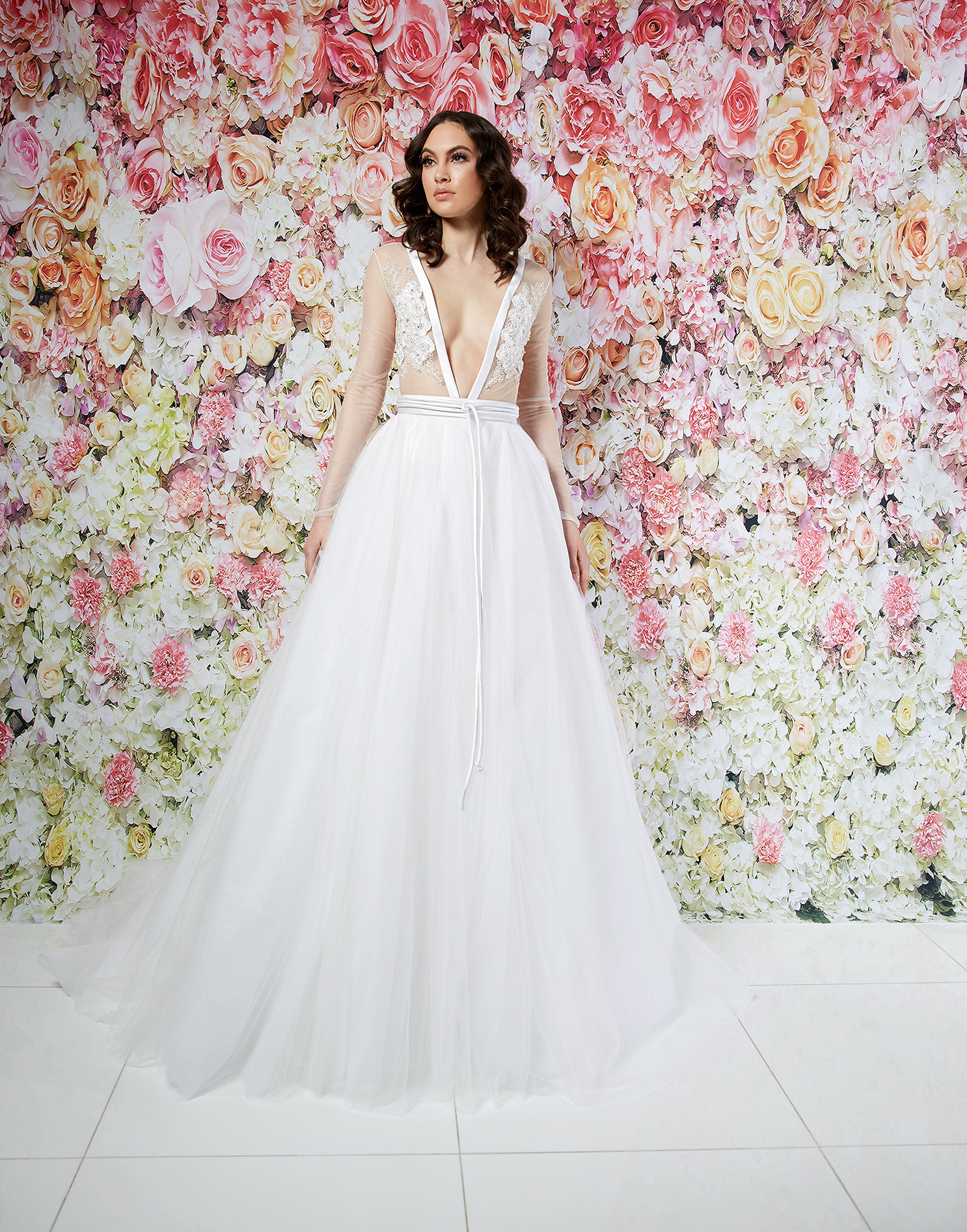 randi rahm wedding dress spring 2019 tulle ball gown sheer bodice