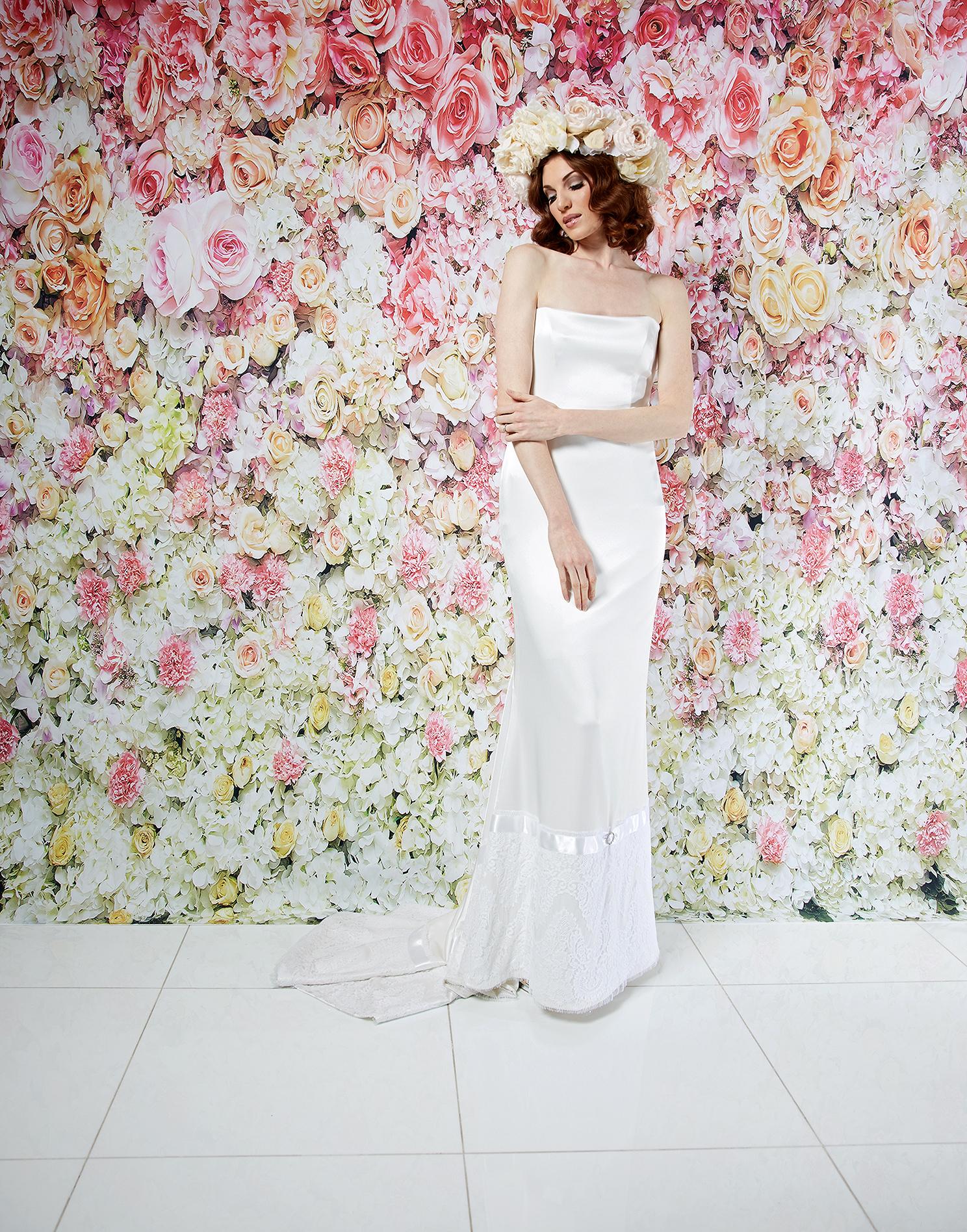 randi rahm wedding dress spring 2019 strapless sheath skirt details