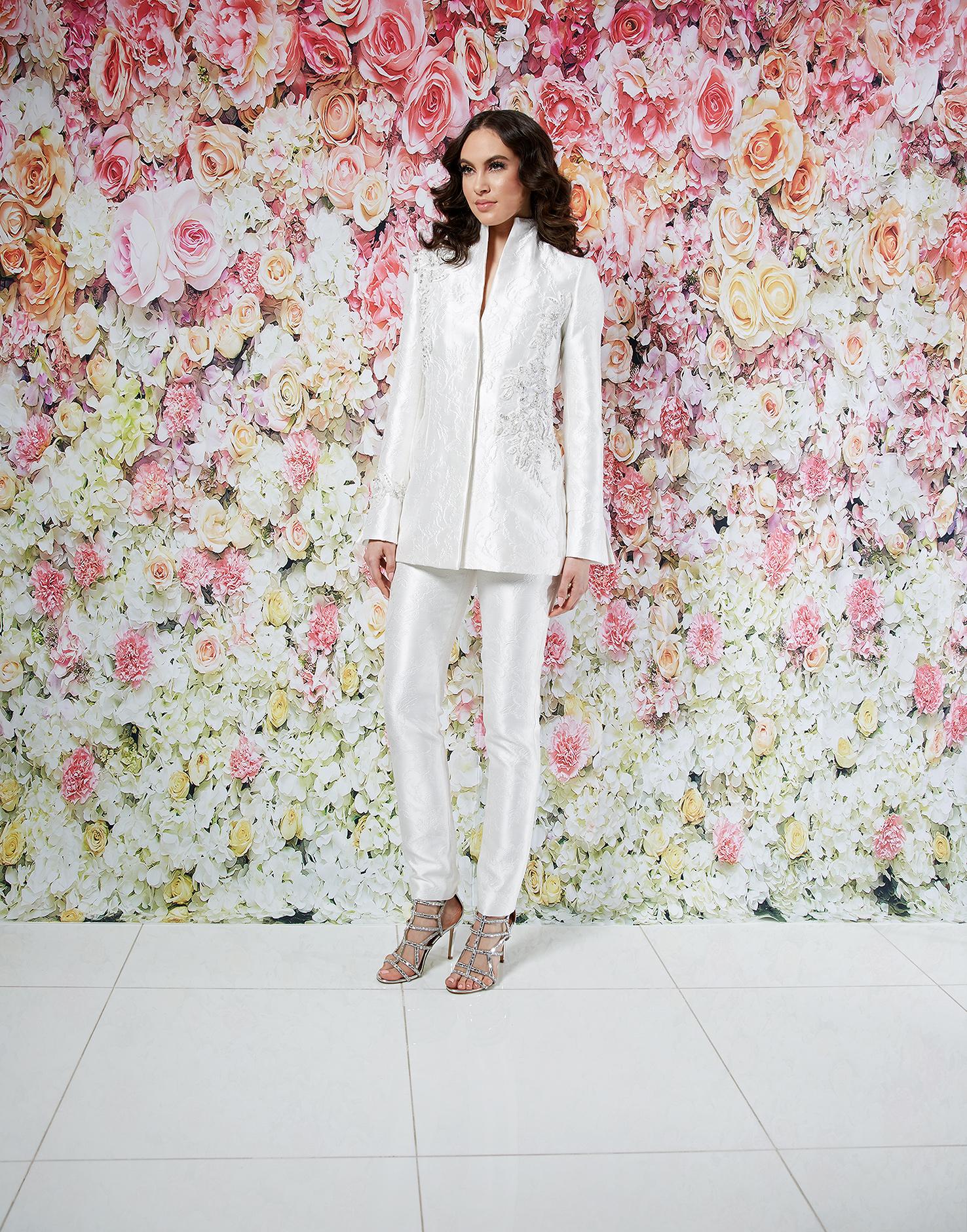 randi rahm wedding dress spring 2019 separates embroidered jacket pants