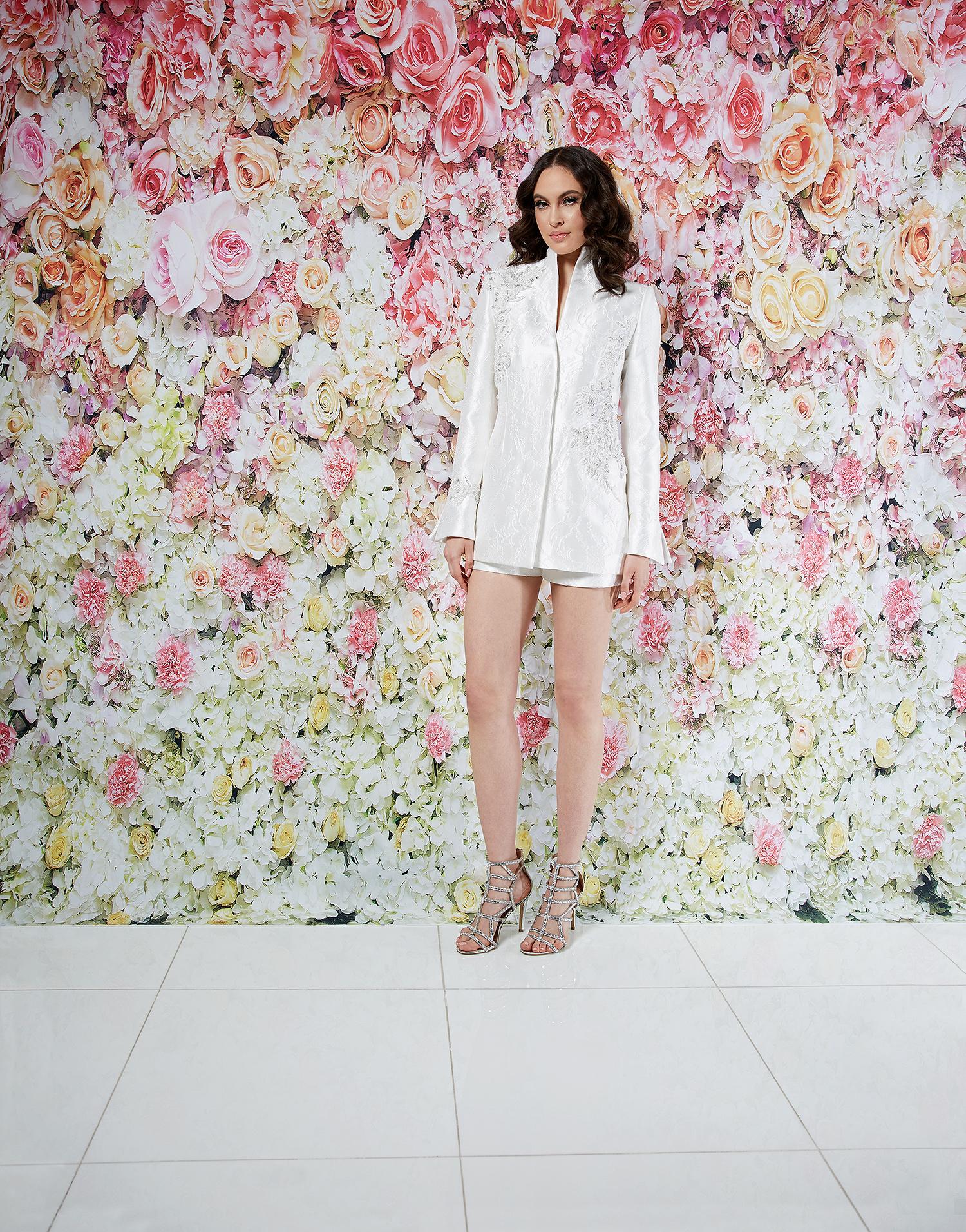 randi rahm wedding dress spring 2019 shorts embroidered jacket separates