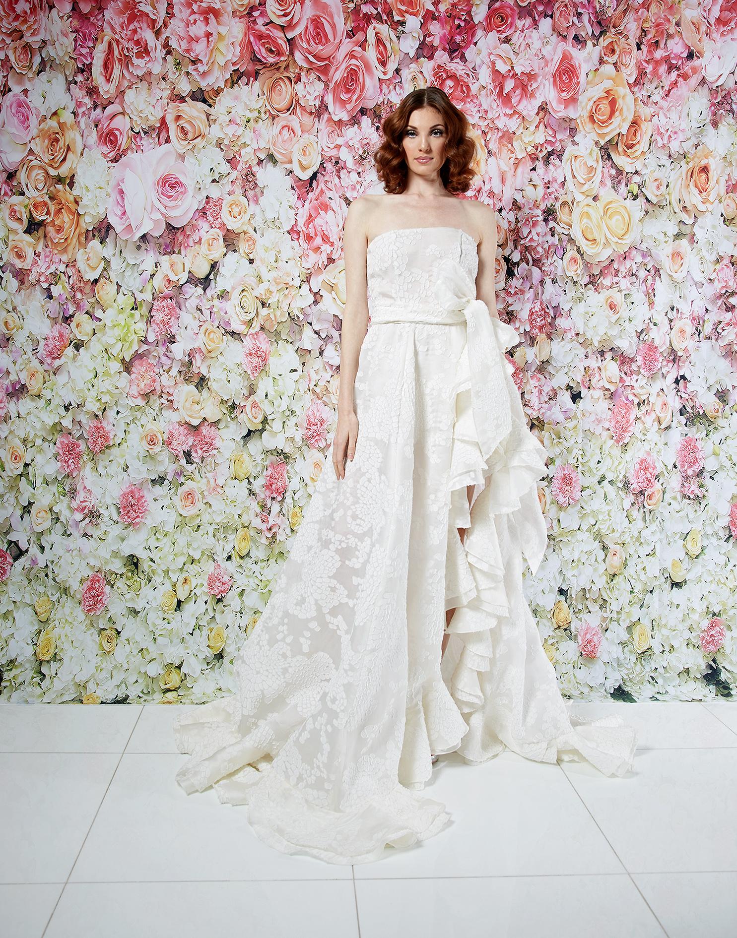 randi rahm wedding dress spring 2019 strapless a-line ruffle sash