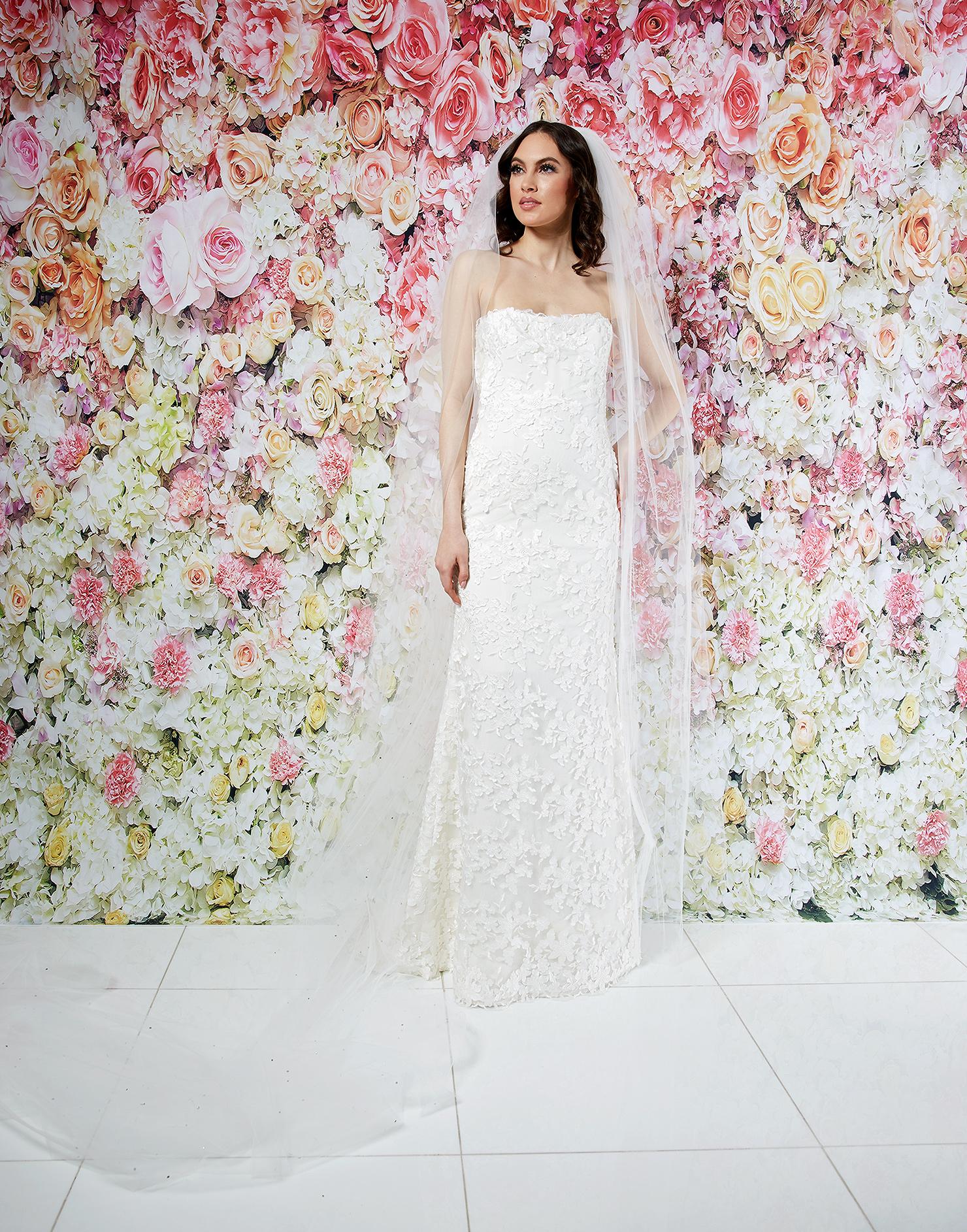 randi rahm wedding dress spring 2019 strapless floral applique