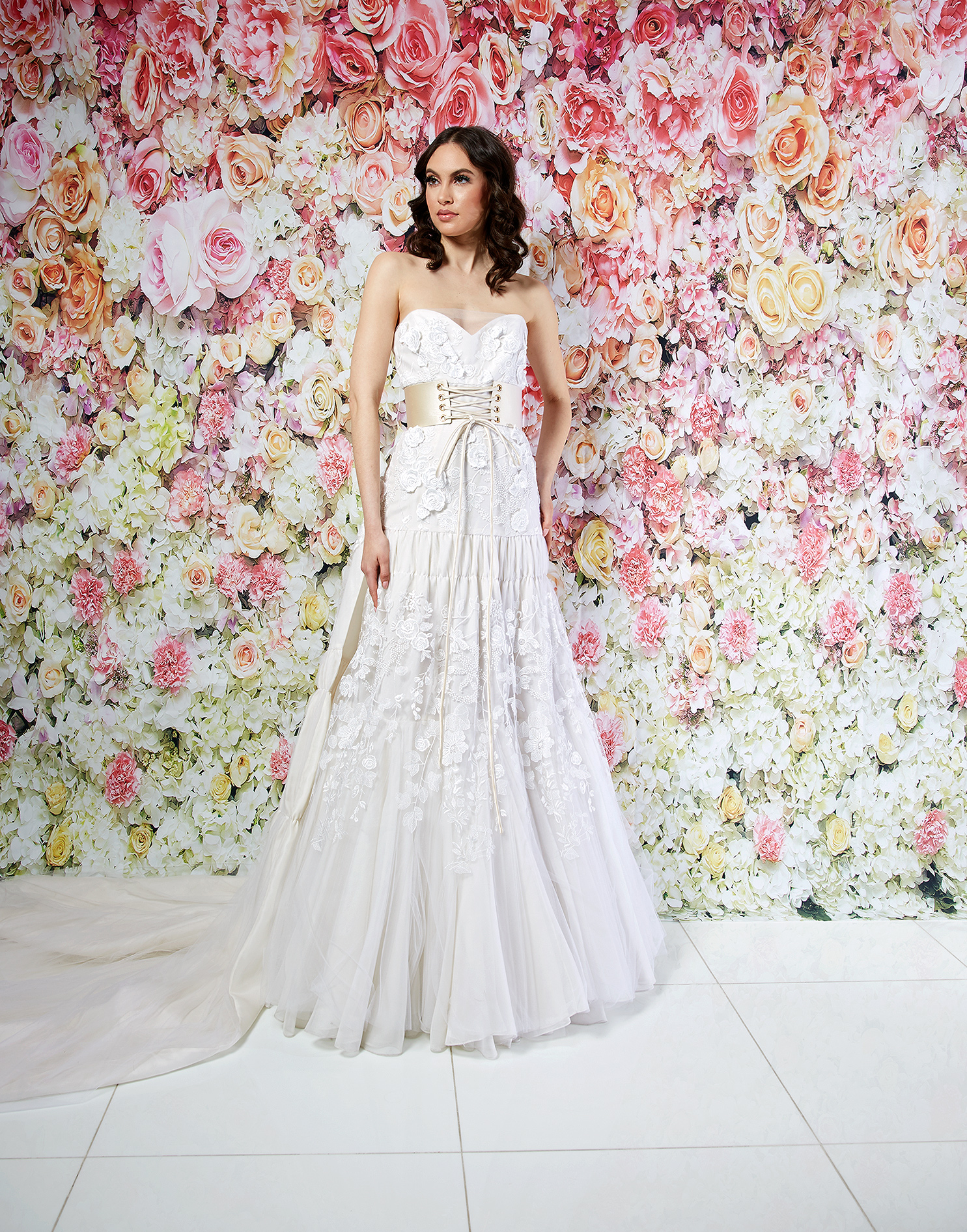 randi rahm wedding dress spring 2019 belted a-line applique