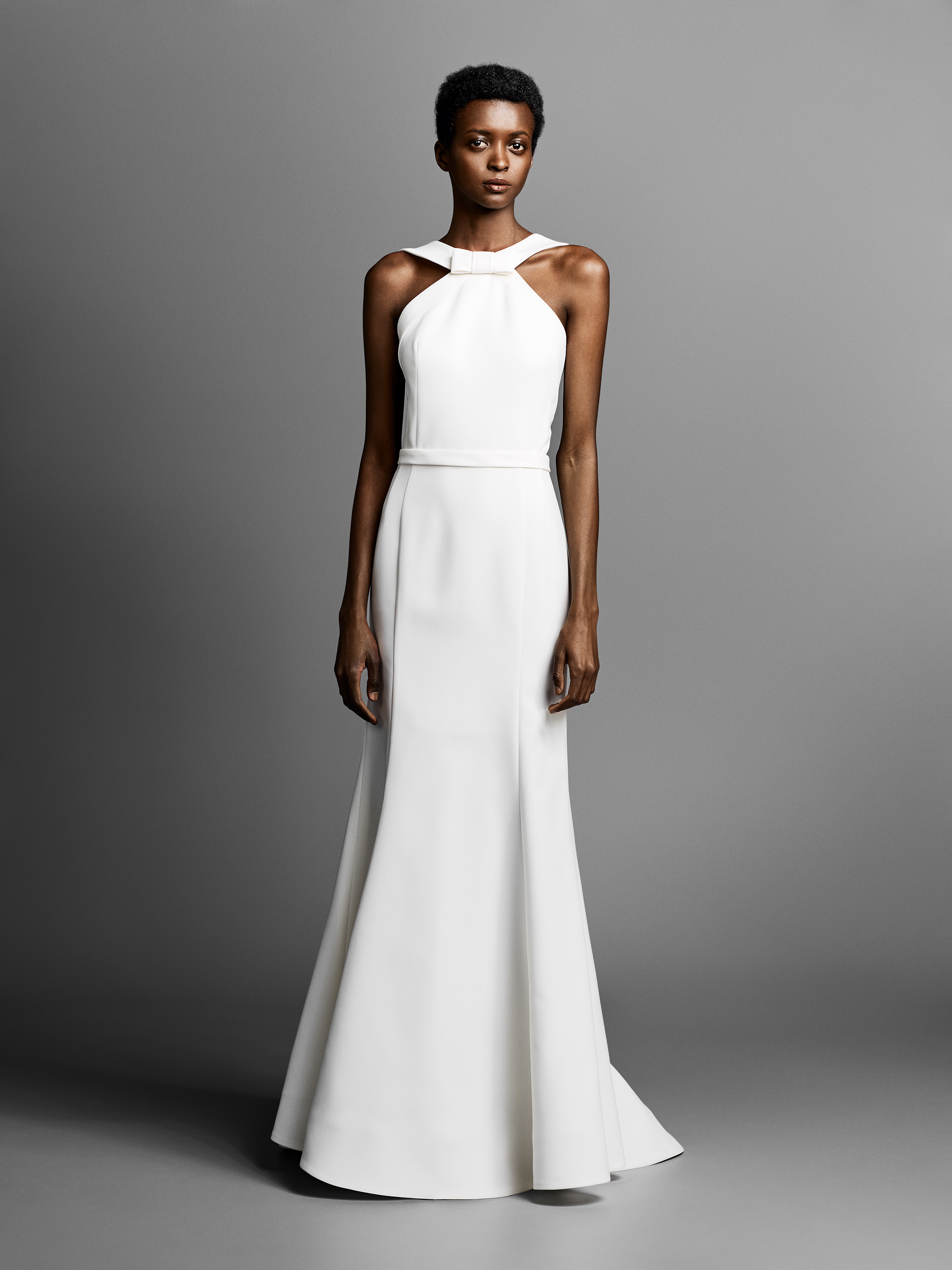 viktor rolf wedding dress with halter neckline spring 2019