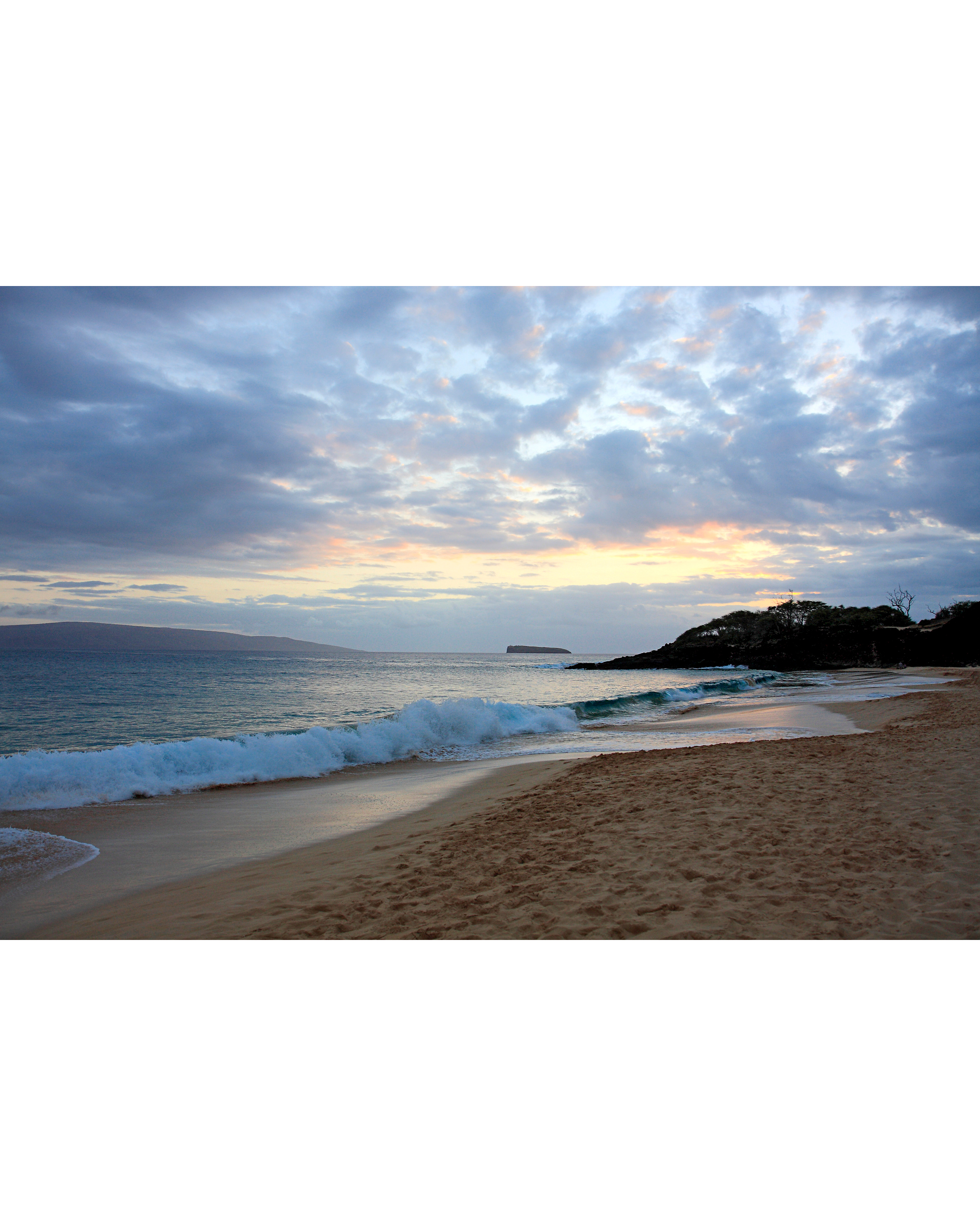 makena beach state park sunset
