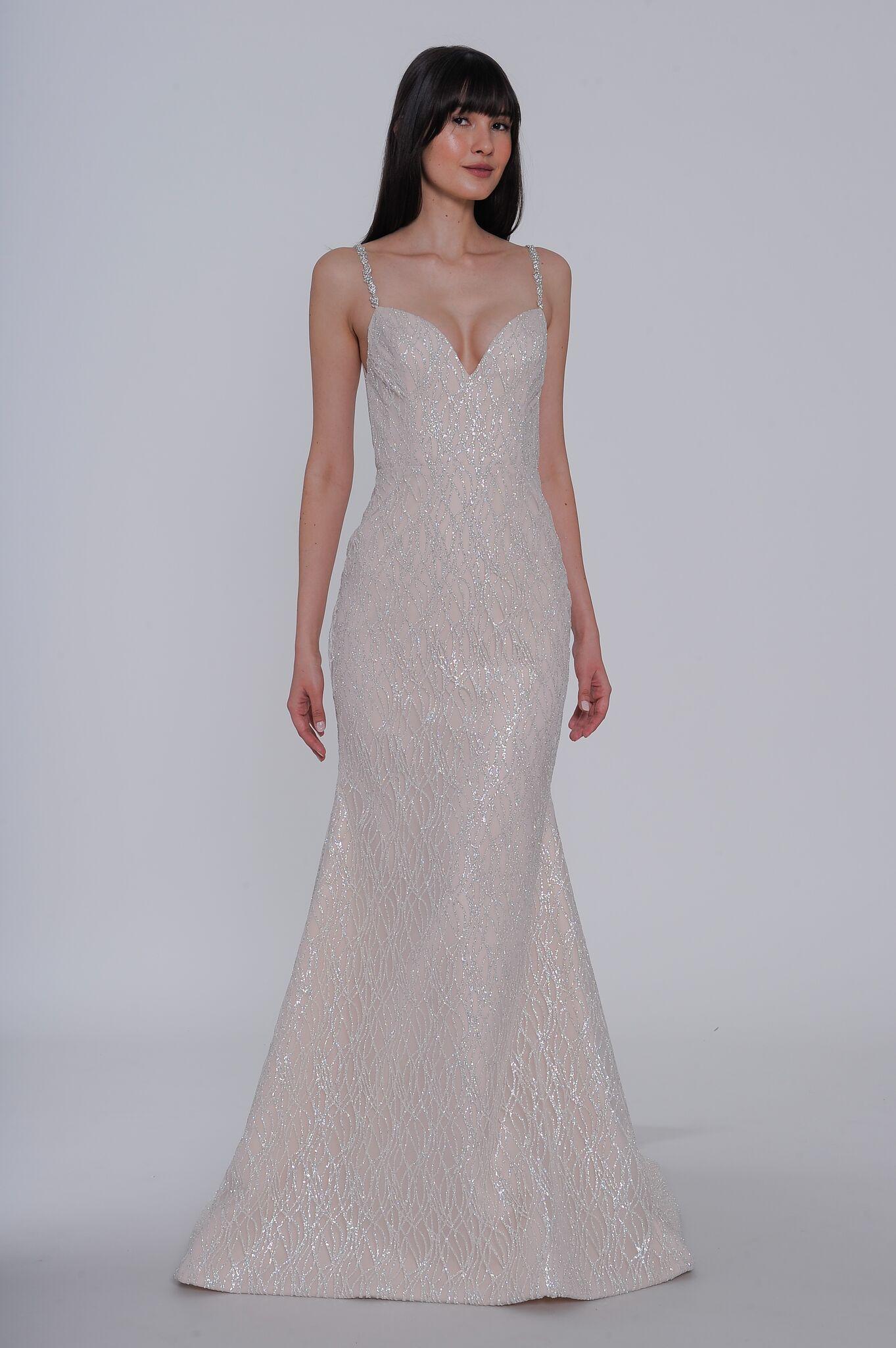 """lazaro """"elisa"""" wedding dress spring 2019"""