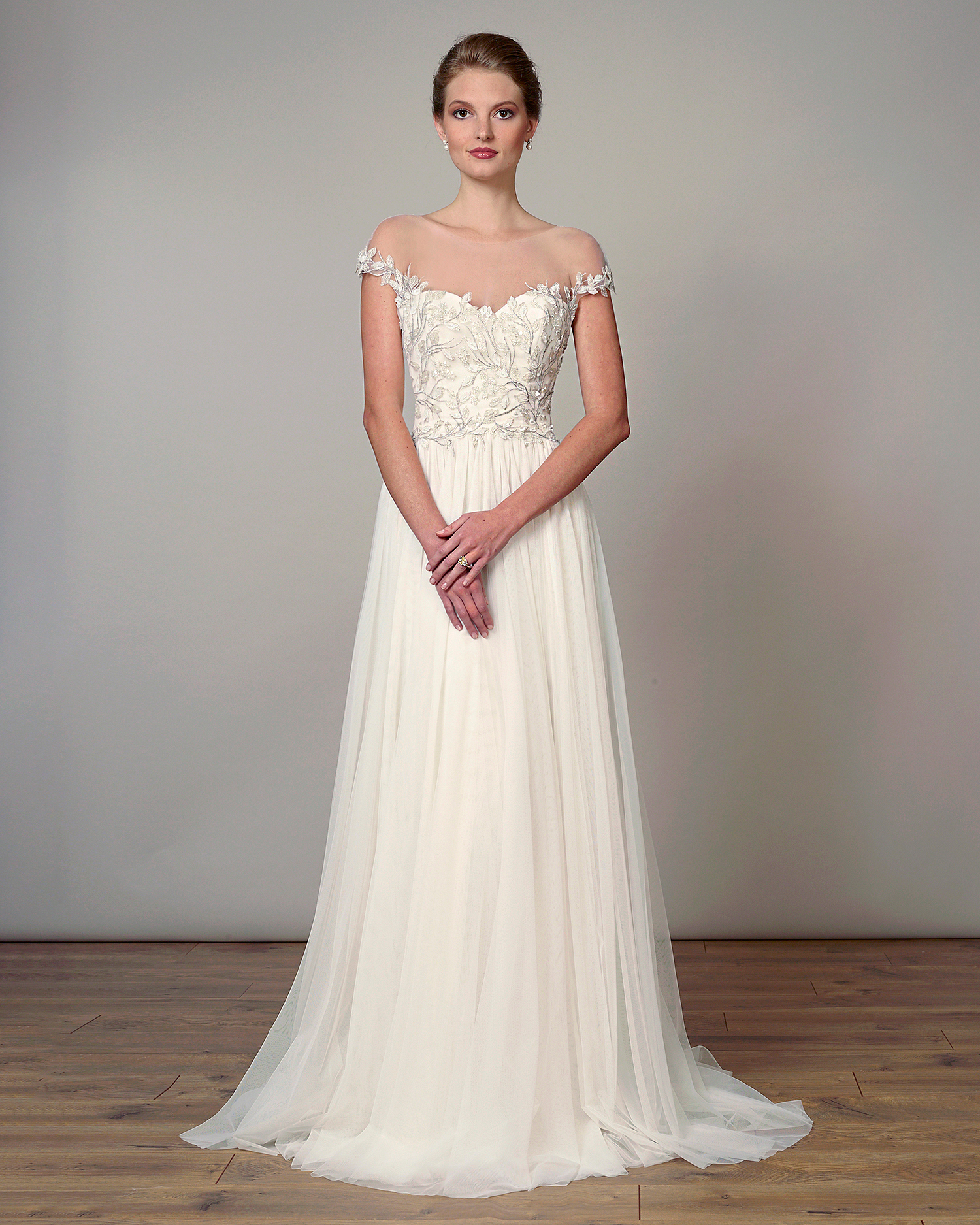 liancarlo wedding dress spring 2019 embroidered bodice off-the-shoulder