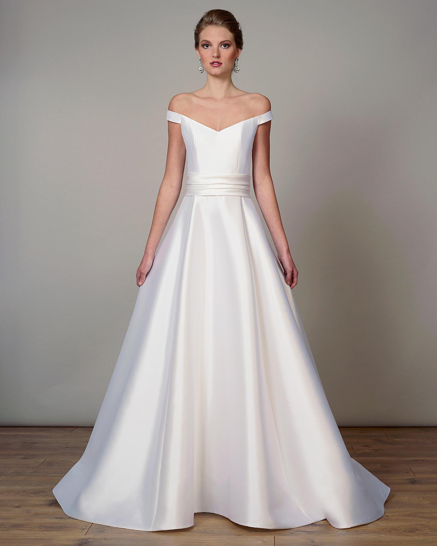 liancarlo wedding dress spring 2019 off-the-shoulder sash a-line