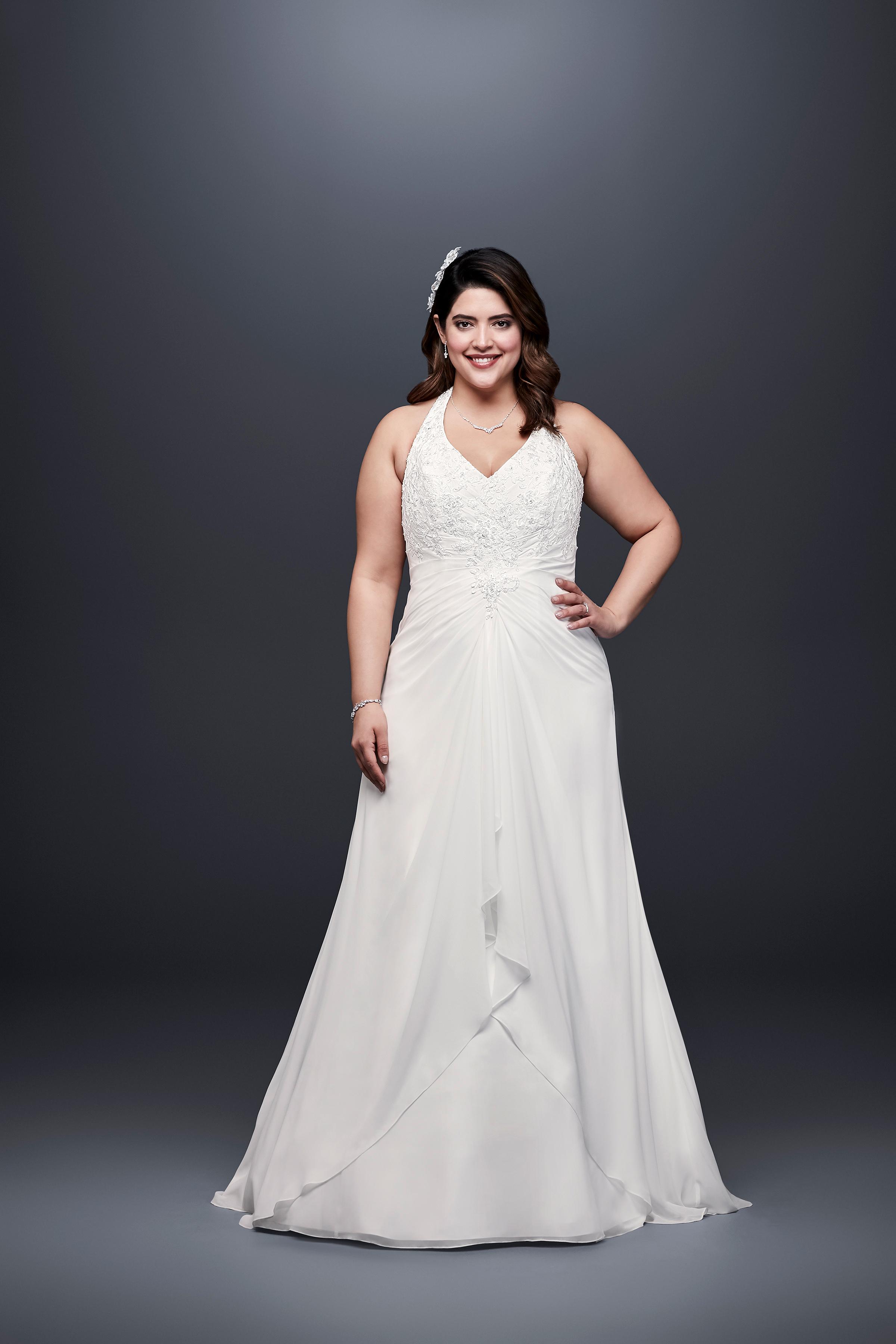 david bridal wedding dress spring 2019 halter a-line