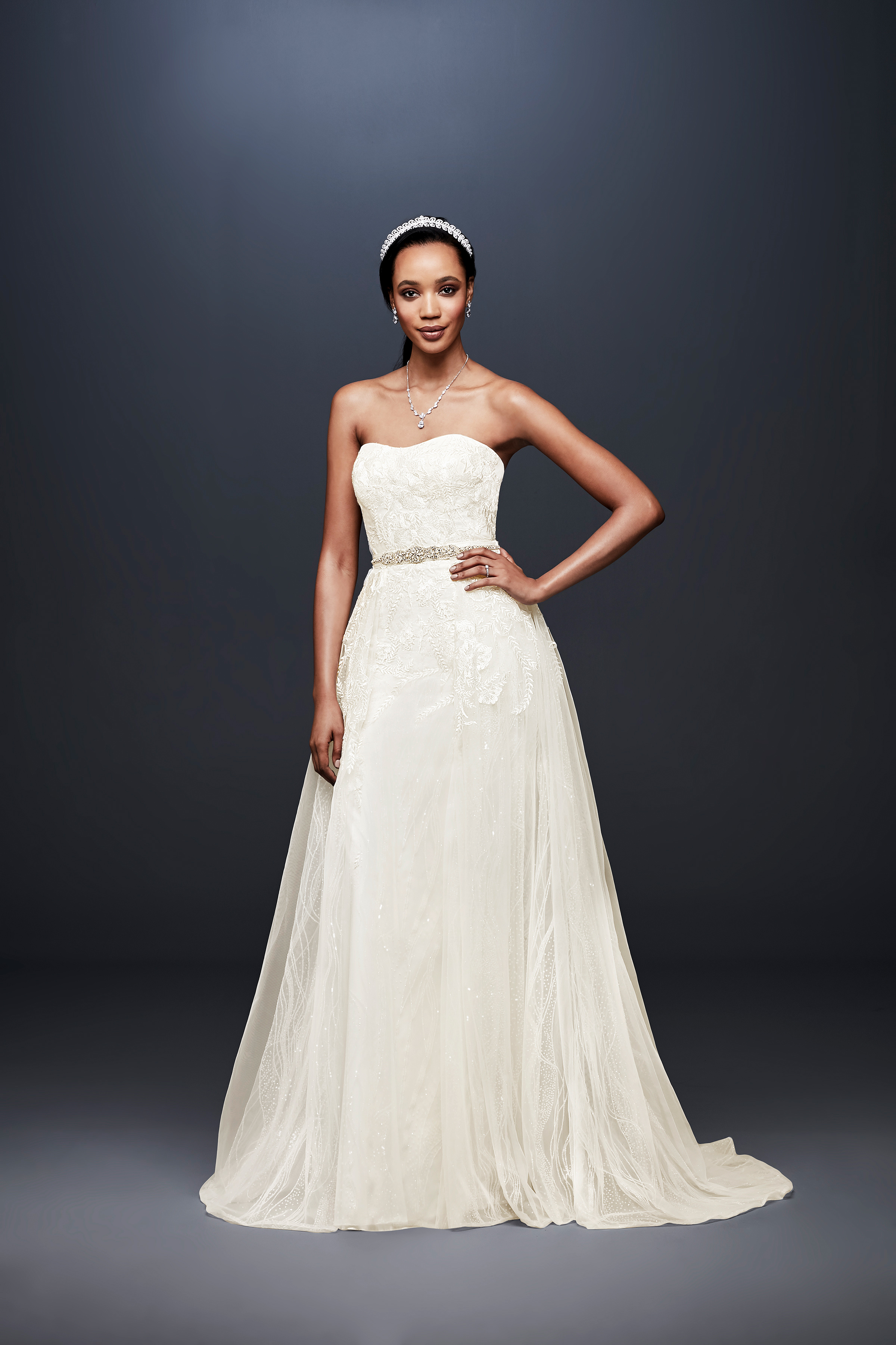david bridal wedding dress spring 2019 strapless a-line sweatheart